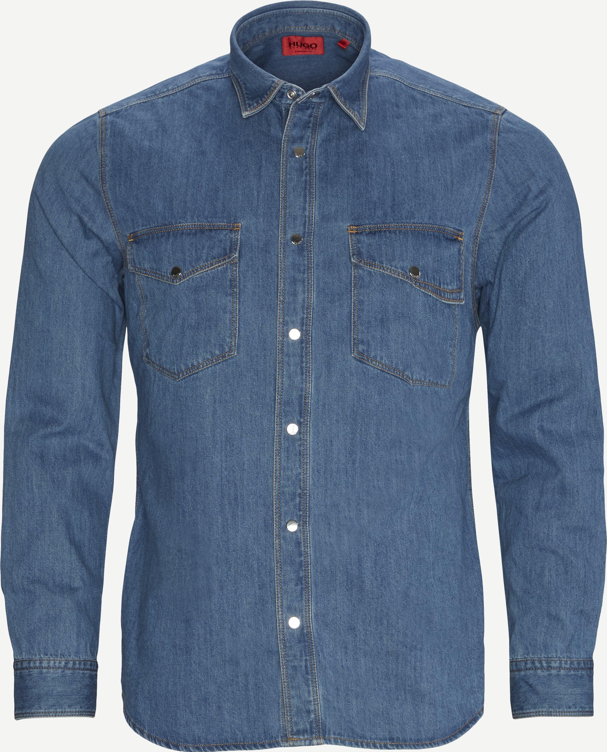 Skjortor - Straight fit - Denim