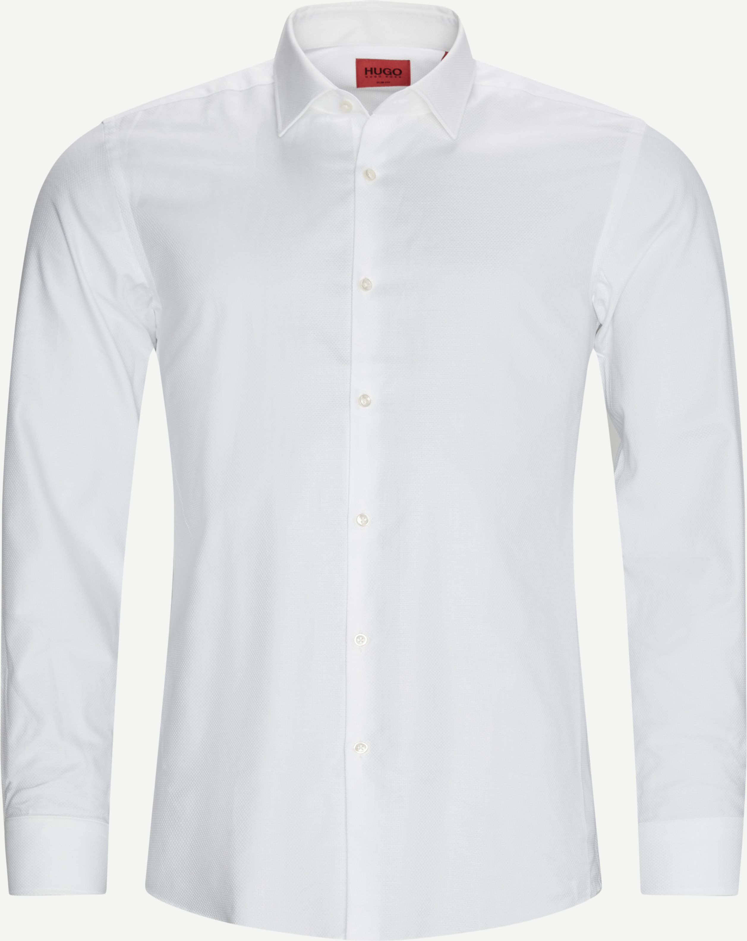 Kenno Shirt - Skjortor - Slim - Vit