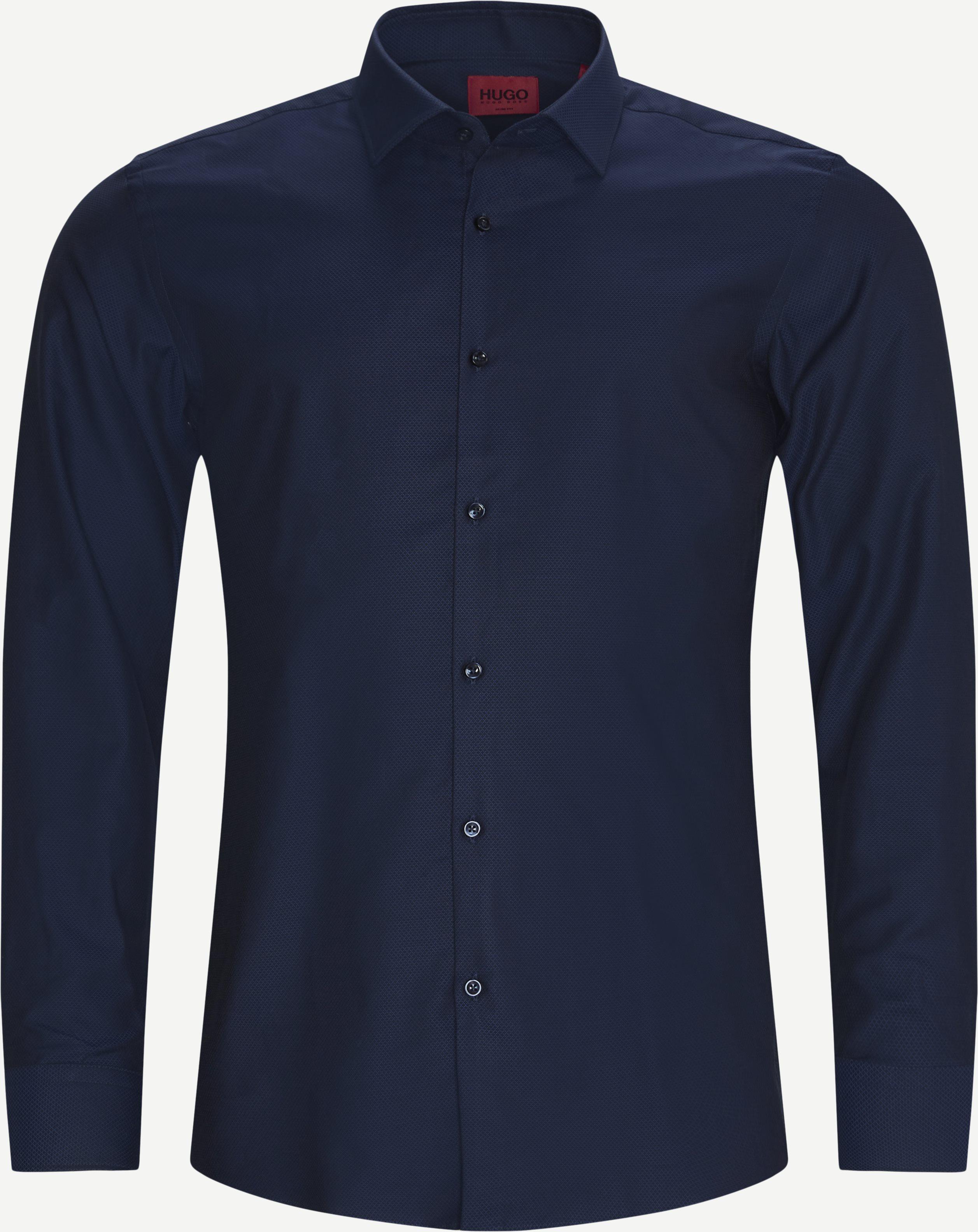 Kenno Shirt - Skjortor - Slim fit - Blå