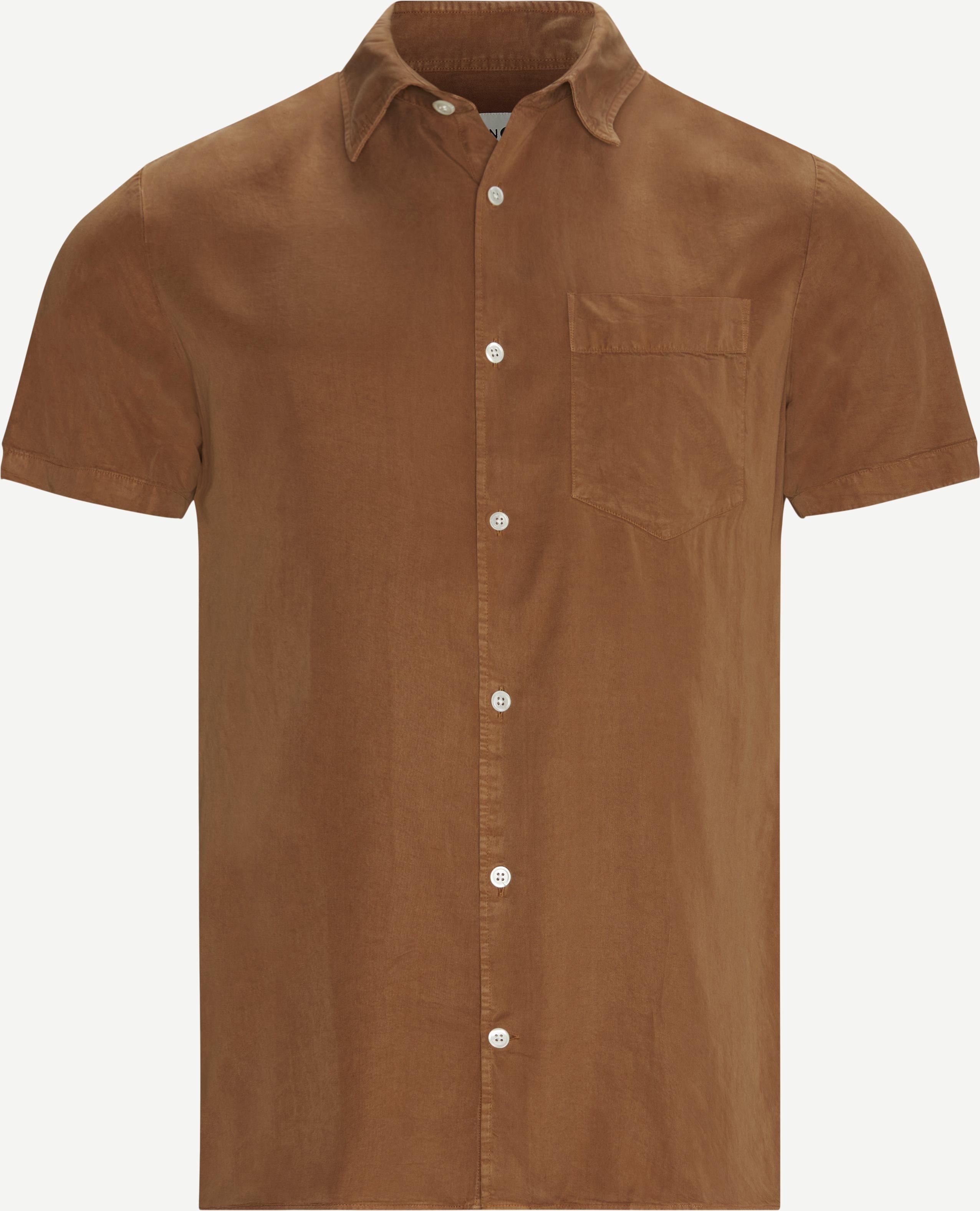 Kurzärmlige Hemden - Regular - Braun