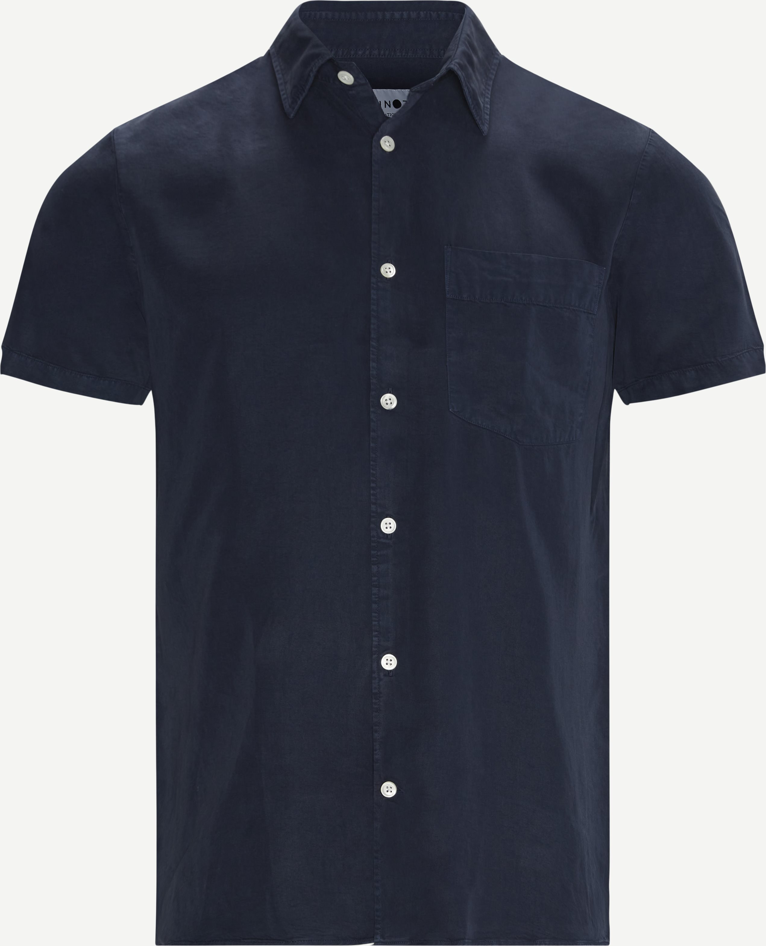 Errico K/Æ Skjorte - Short-sleeved shirts - Regular - Blue