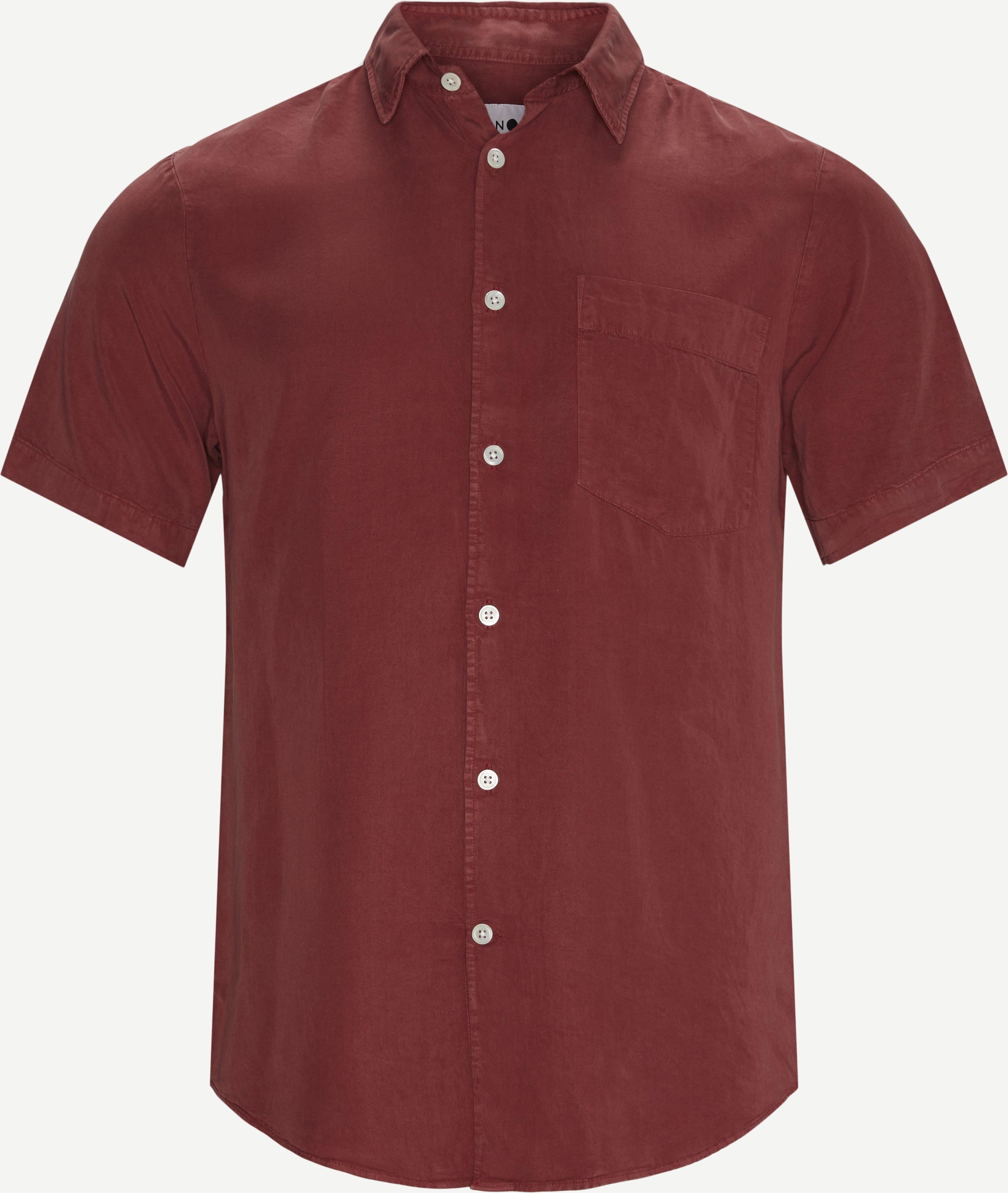 Errico K/Æ Skjorte - Kortärmade skjortor - Regular - Röd