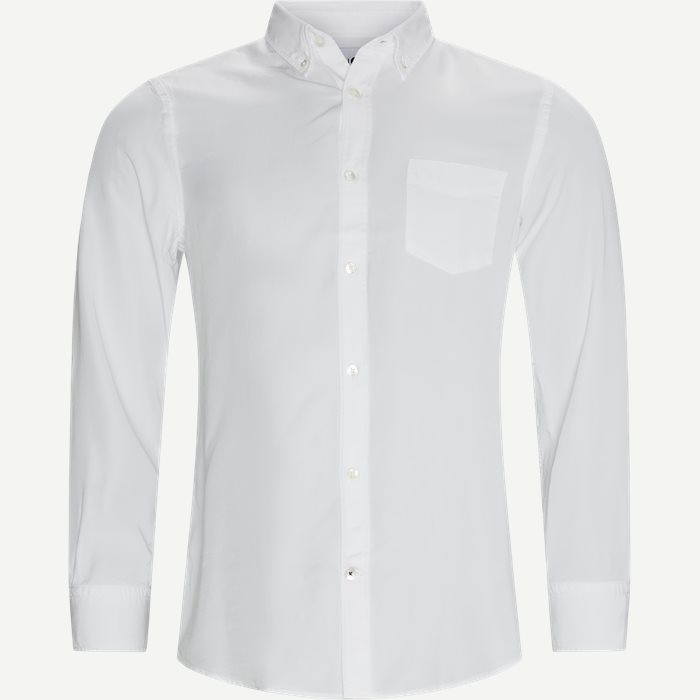 Manza Shirt - Skjortor - Regular - Vit