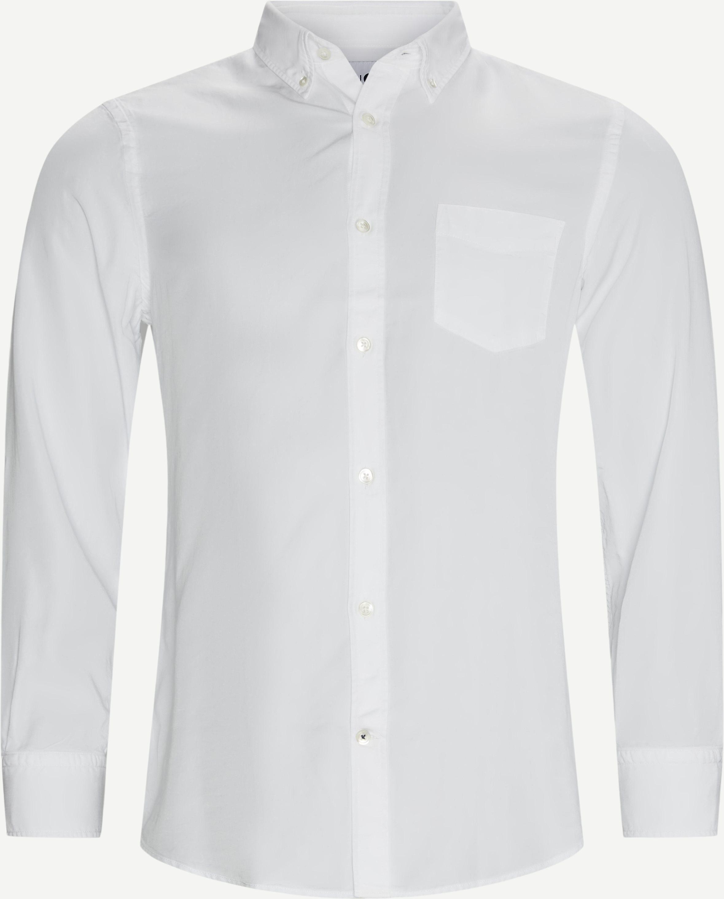 Manza Shirt - Skjortor - Regular - Vit