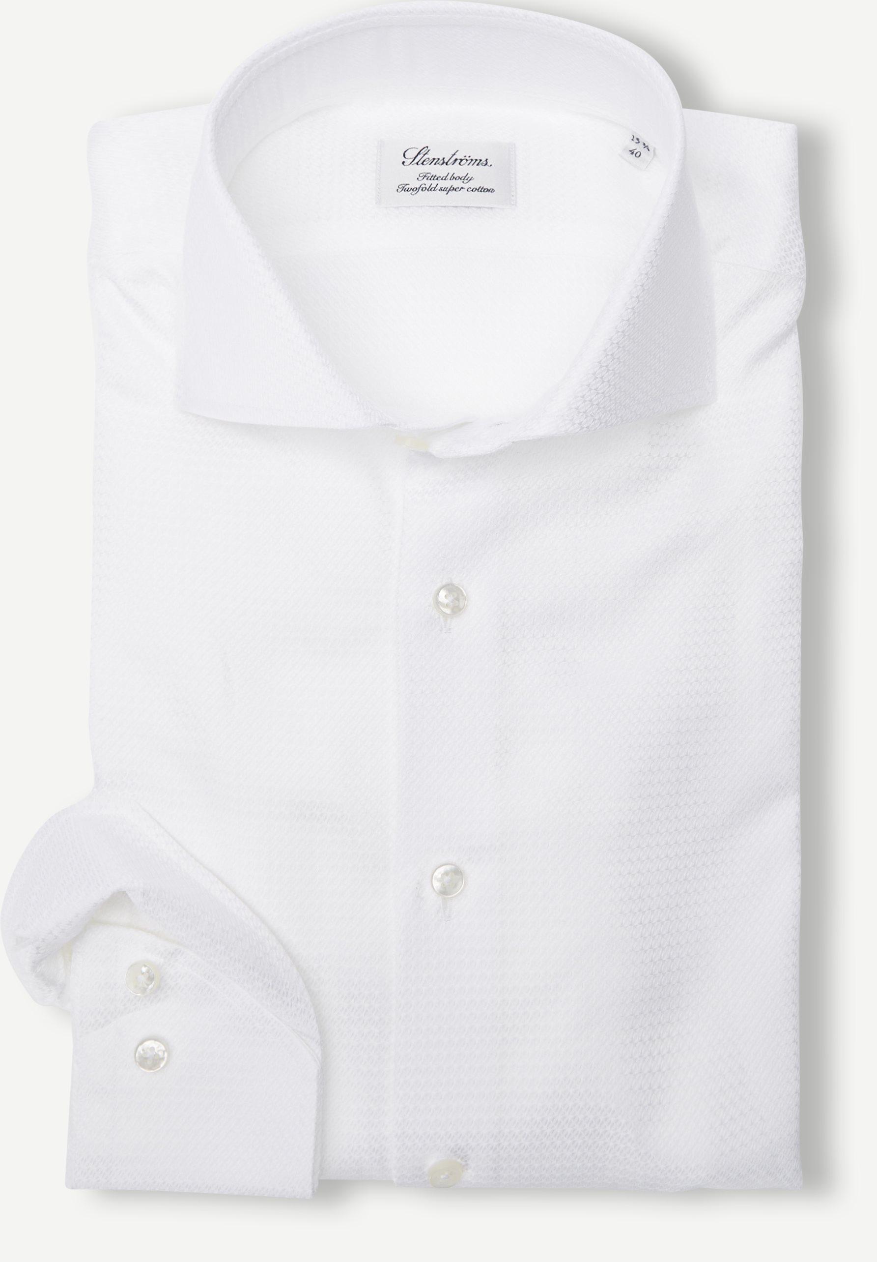8100 702111 Shirt - Skjorter - Slim fit - Hvid