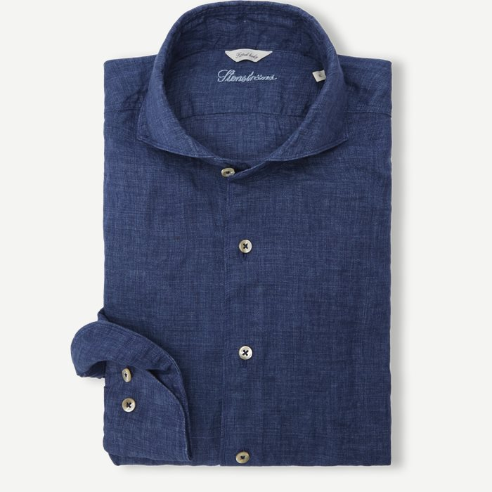 Linen Shirt - Skjortor - Blå