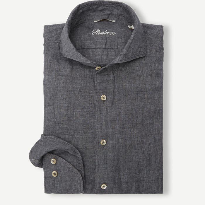 Linen Shirt - Skjortor - Grå
