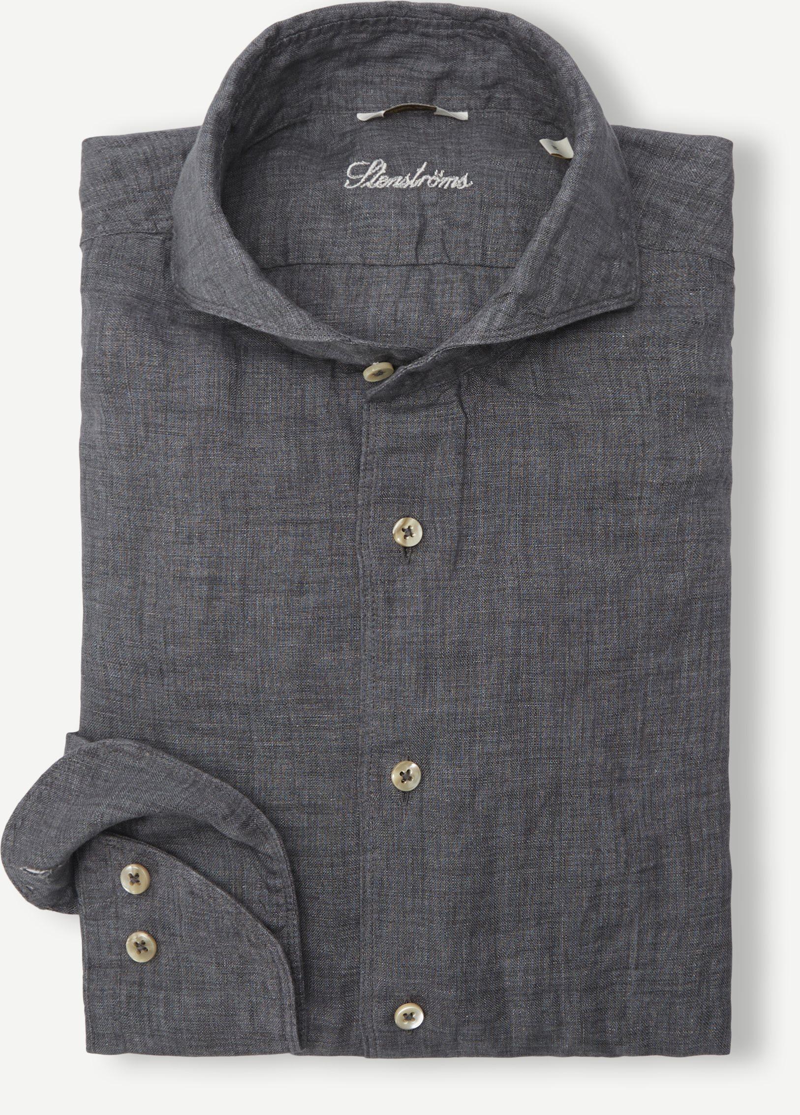 Linen Shirt - Shirts - Grey