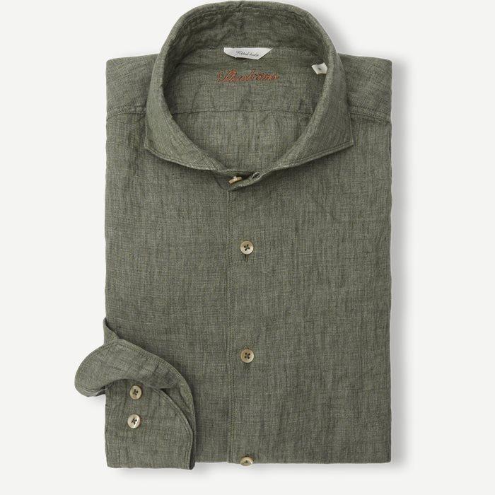 Linen Shirt - Skjortor - Grön