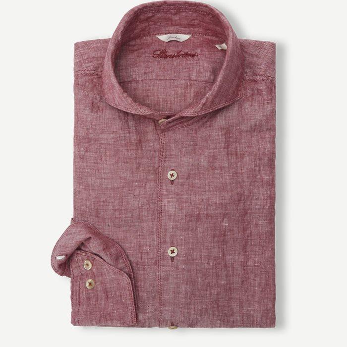 Linen Shirt - Skjortor - Röd