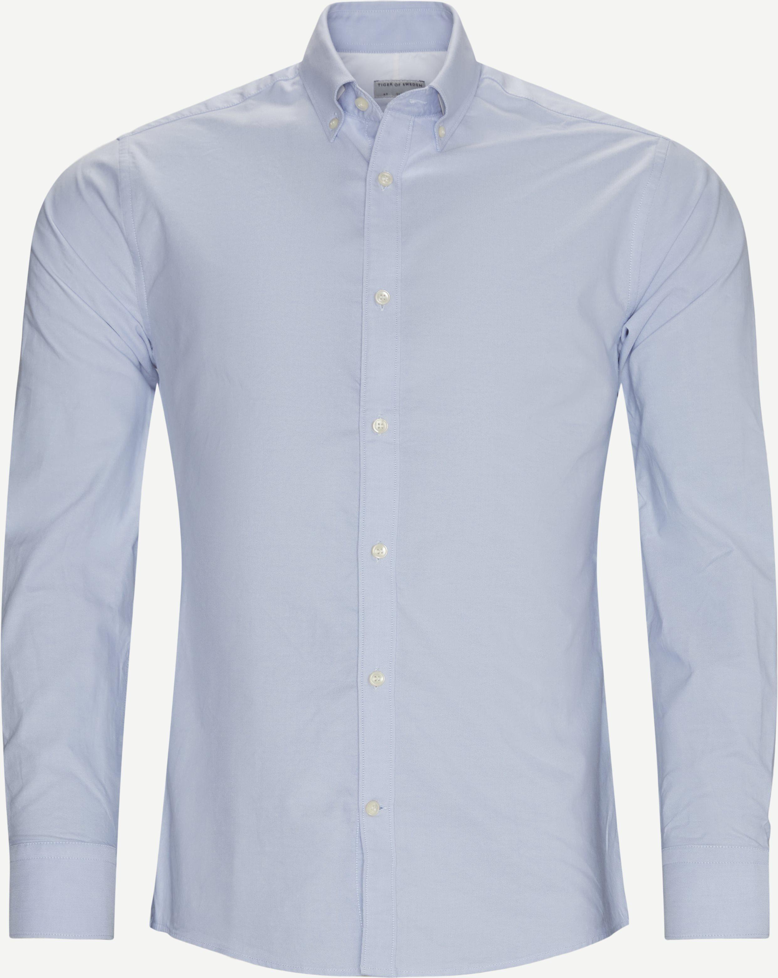Fenald Skjorte - Shirts - Slim - Blue