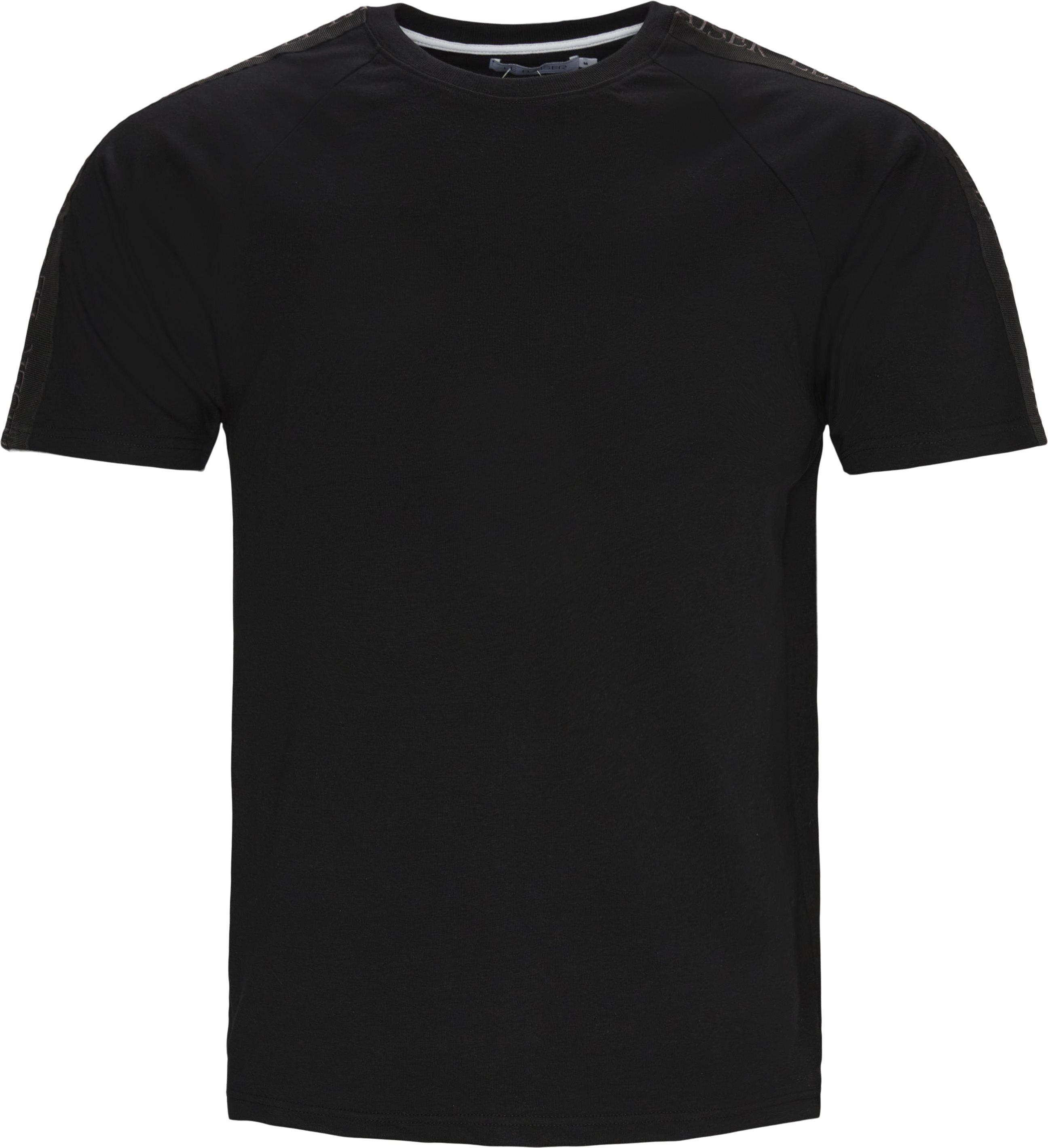 Menton Tee - T-shirts - Regular - Sort