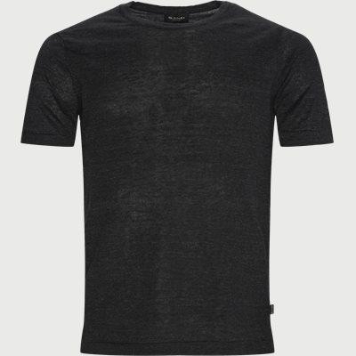 Linen T-shirt Regular fit | Linen T-shirt | Svart