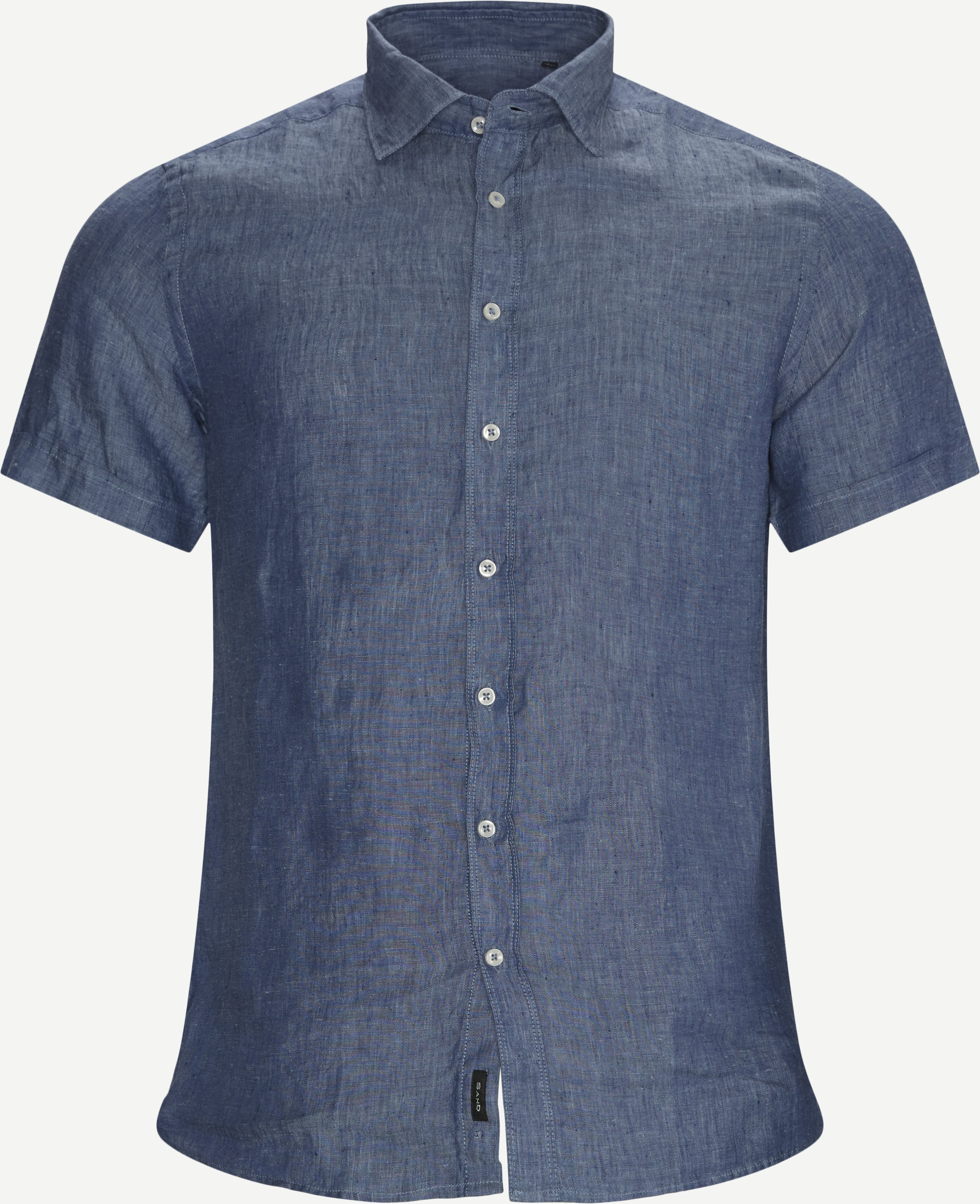 Iver State K/Æ Skjorte - Short-sleeved shirts - Slim - Blue