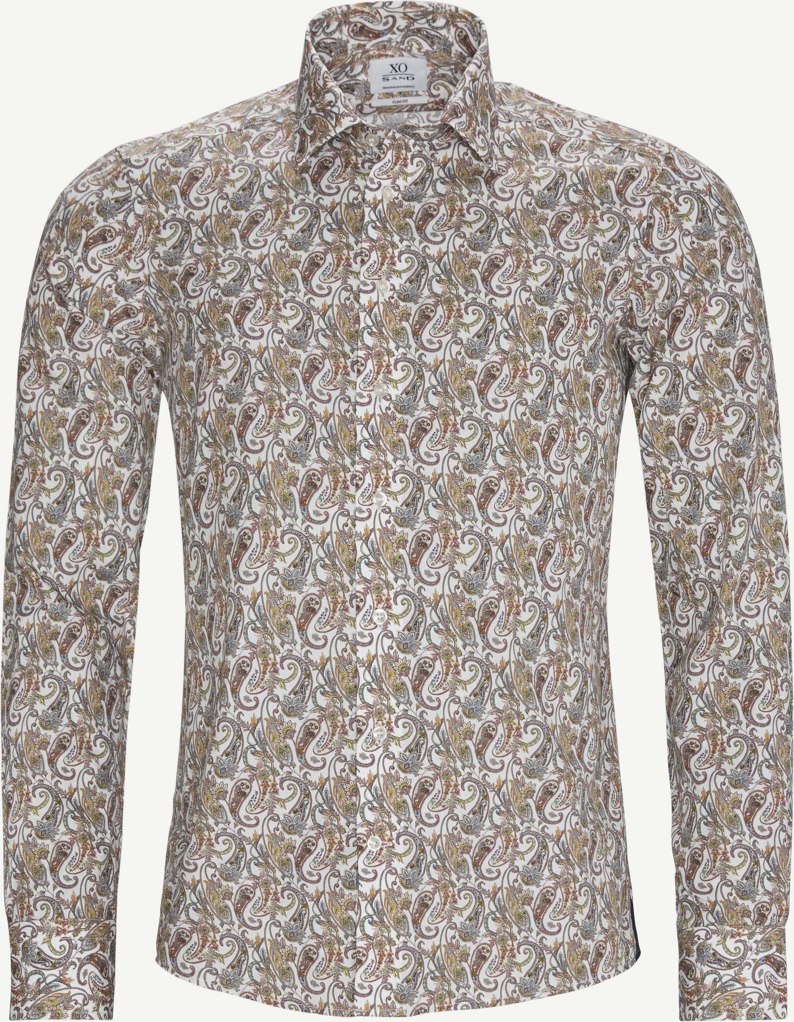 Jake Gordon Skjorte - Shirts - Slim - Brown