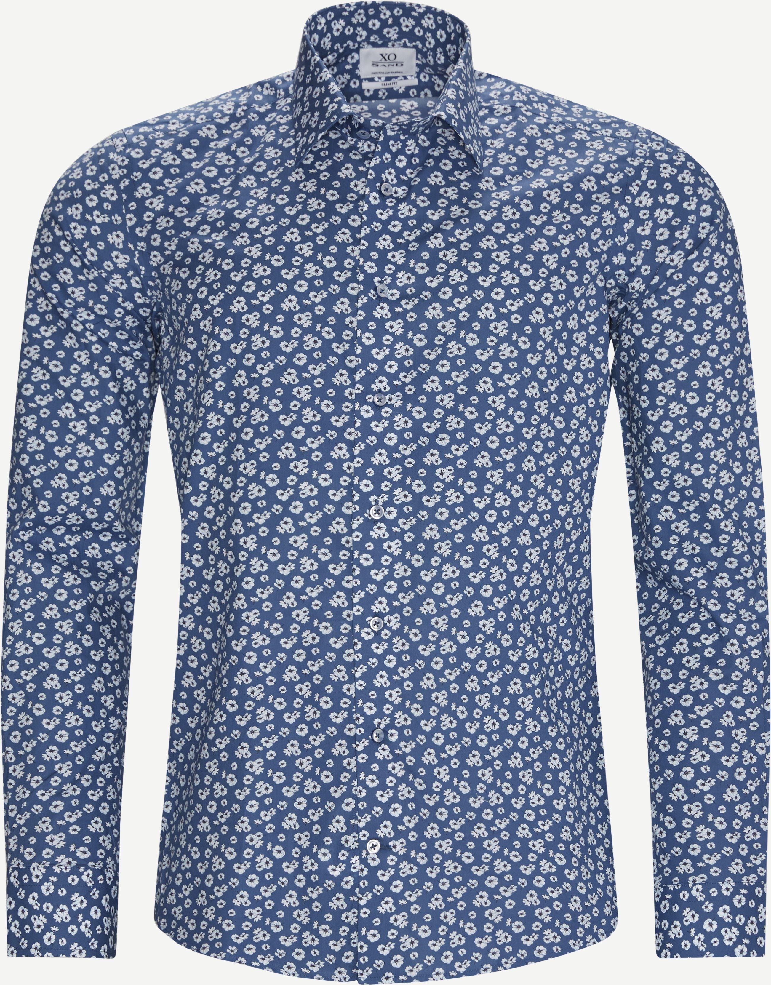Jake Gordon Skjorte - Shirts - Slim - Blue
