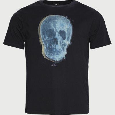 Printet T-shirt Regular | Printet T-shirt | Blå