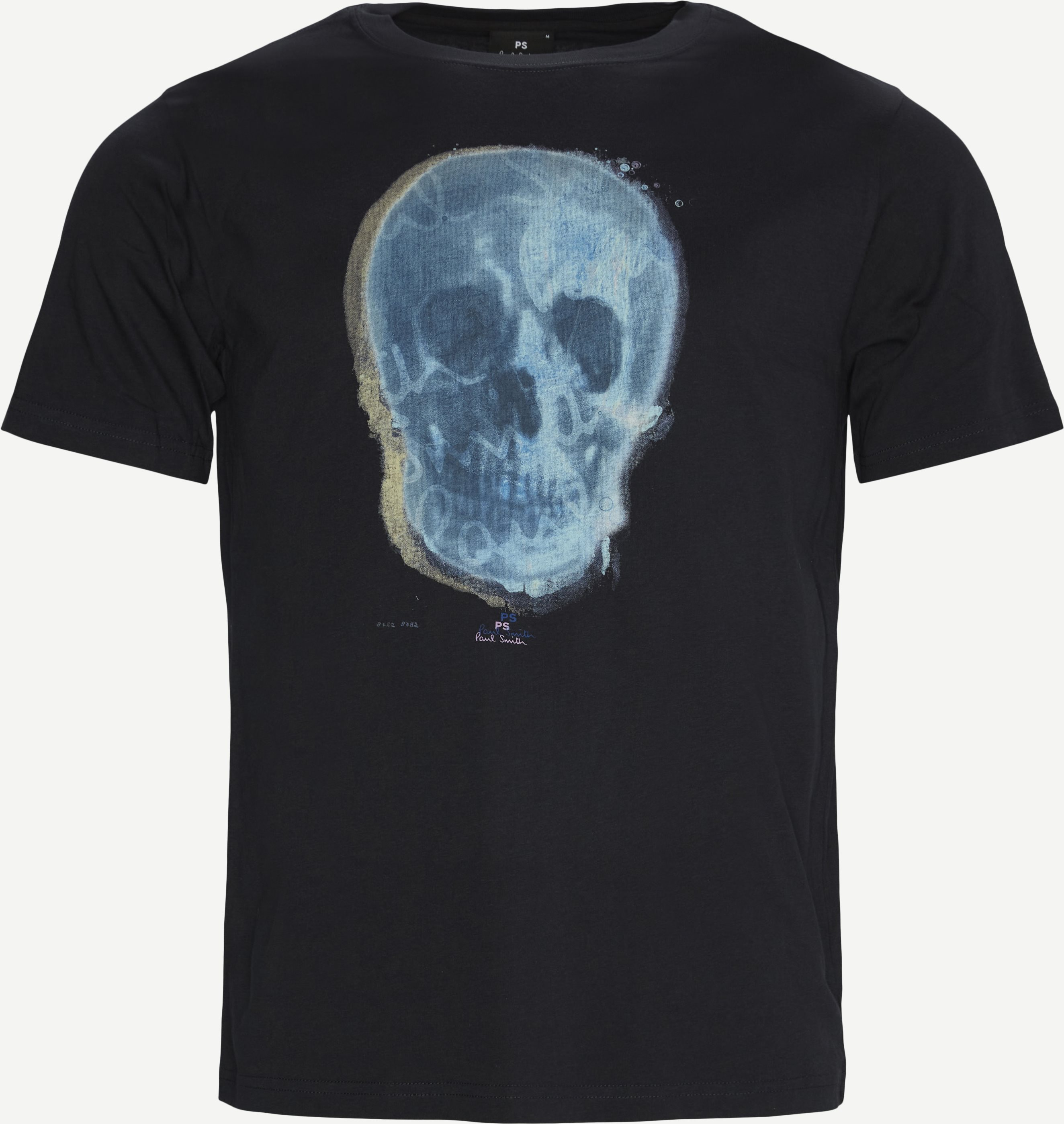 Printet T-shirt - T-shirts - Regular - Blue