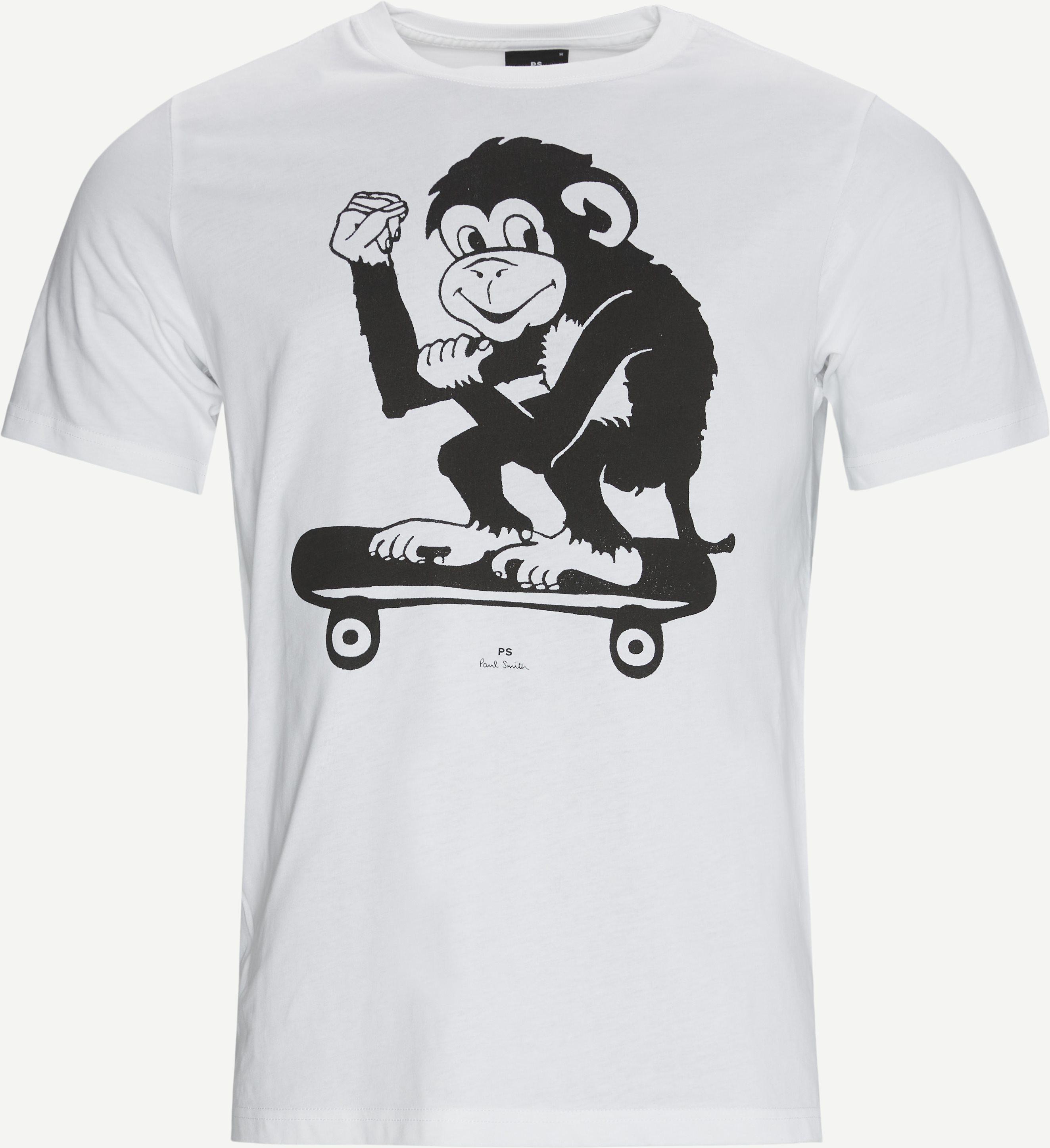 Print T-shirt - T-shirts - Regular - White