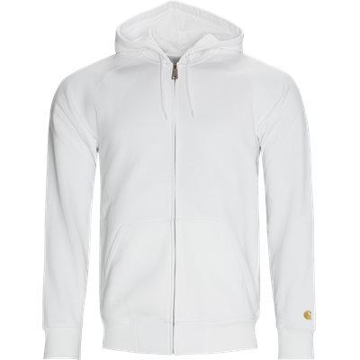 Hooded Chase Zip Sweatshirt Regular fit | Hooded Chase Zip Sweatshirt | Hvid