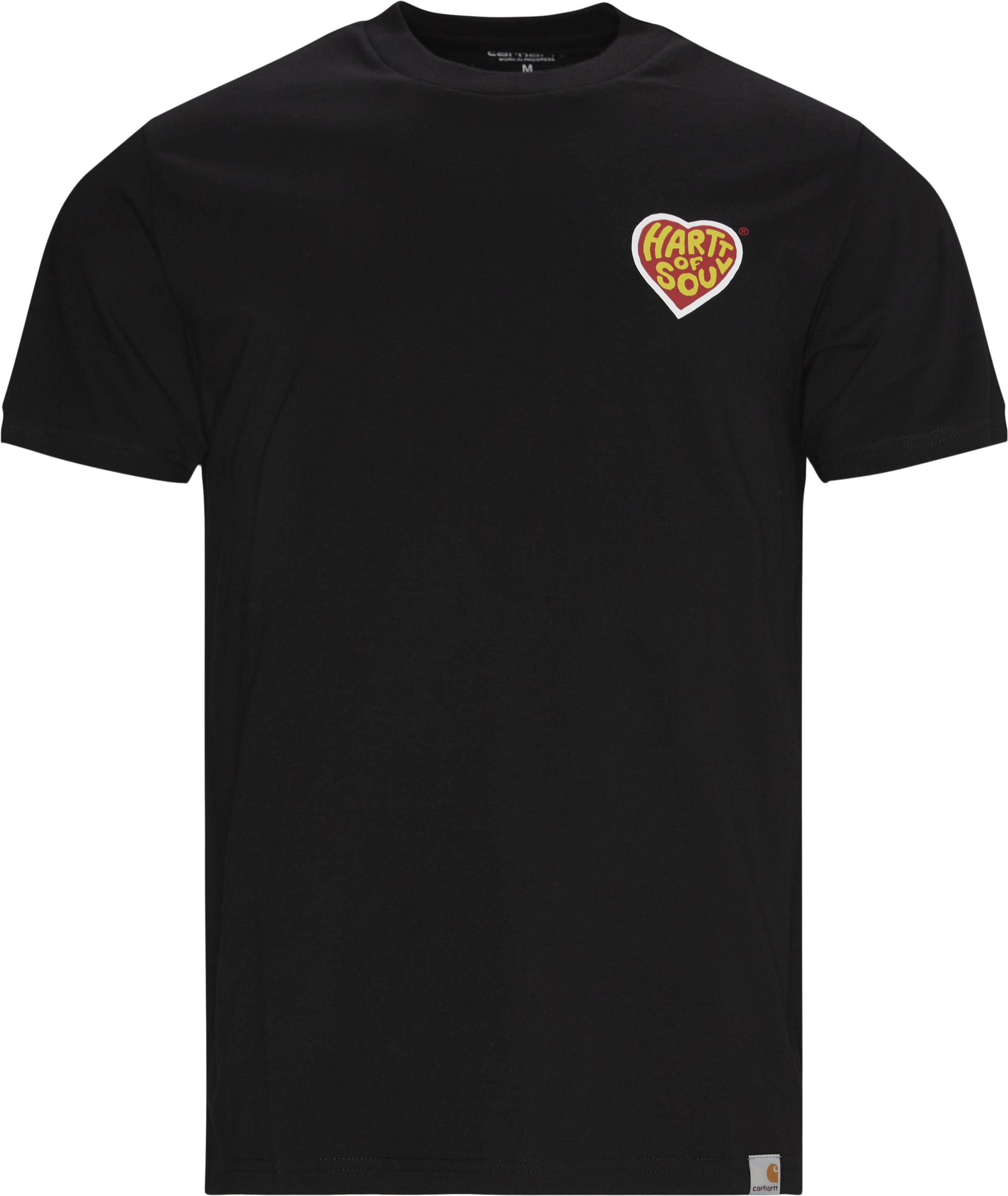 Hartt Of Soul Tee - T-shirts - Regular - Svart