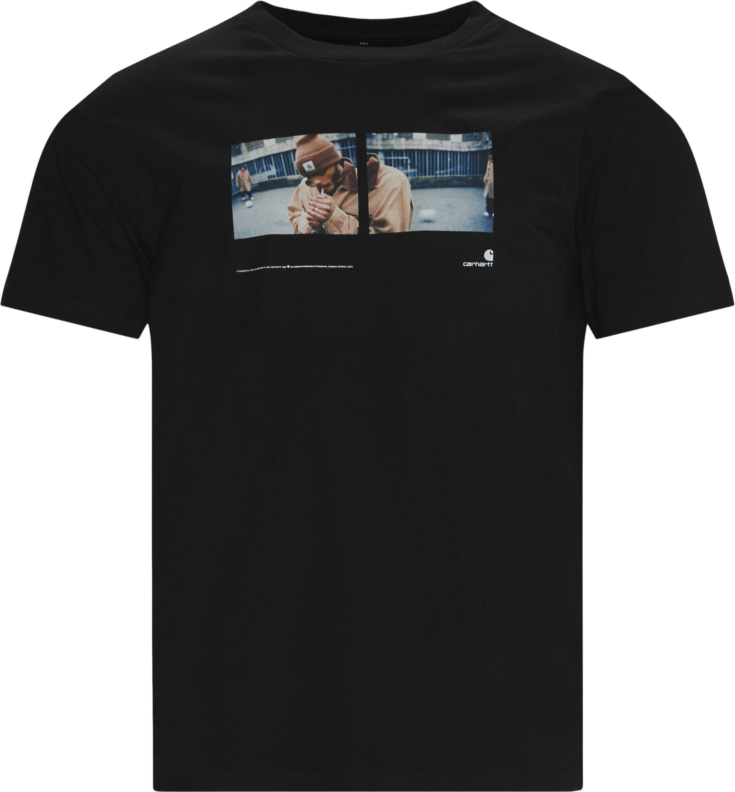 Backyard Tee - T-shirts - Regular fit - Sort