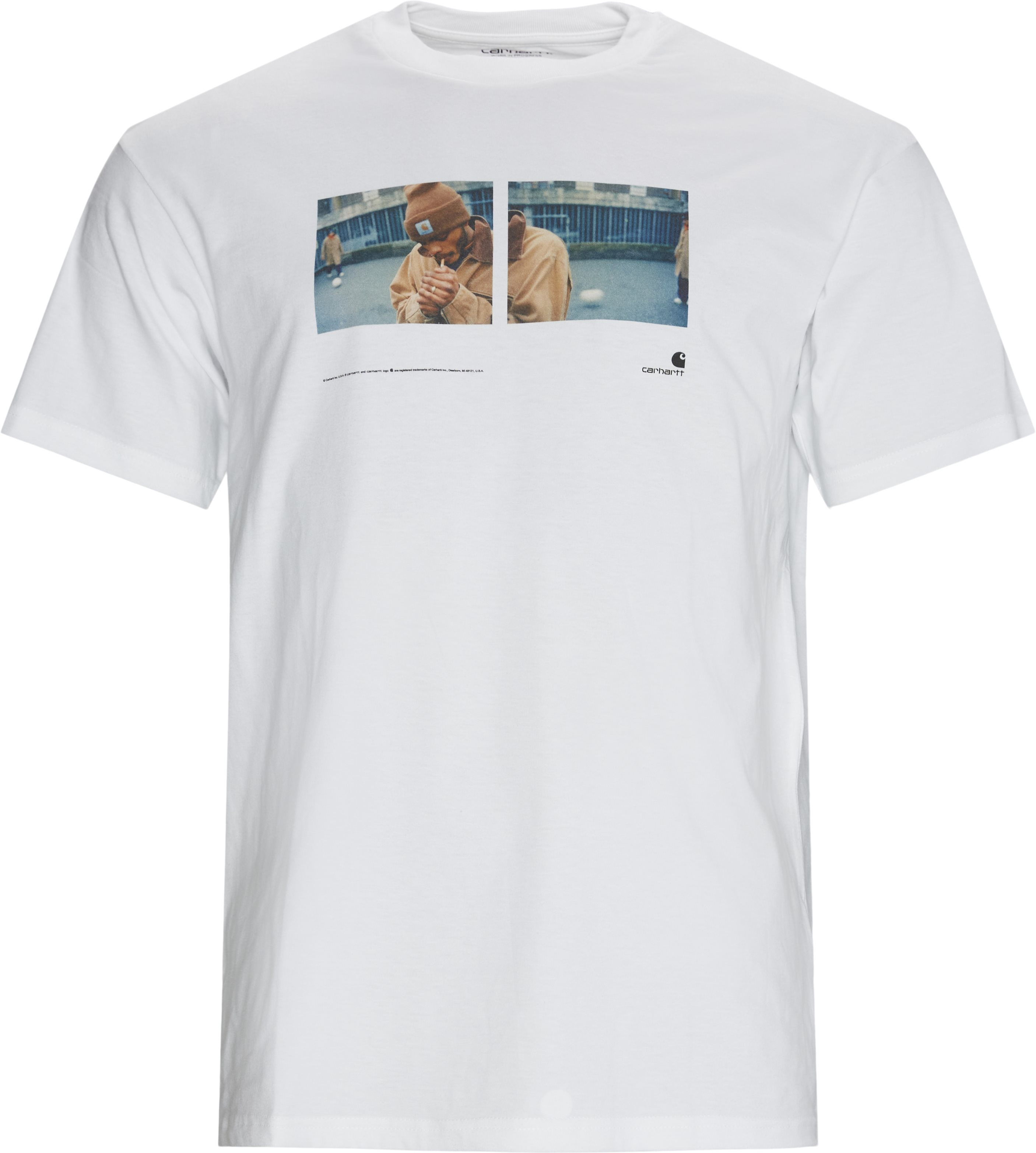 Backyard Tee - T-shirts - Regular - Hvid