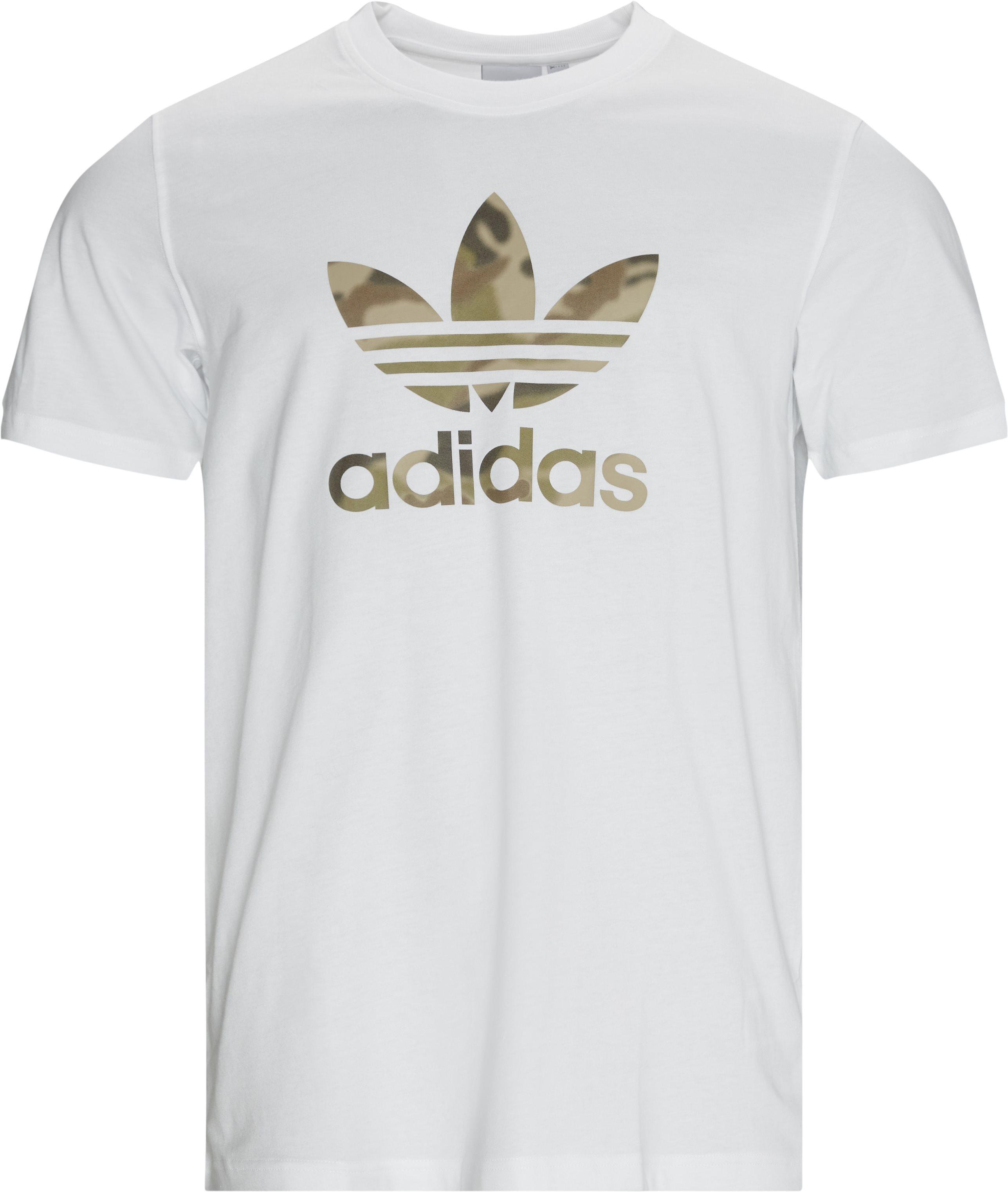 Camo Infill Tee - T-shirts - Regular - Hvid