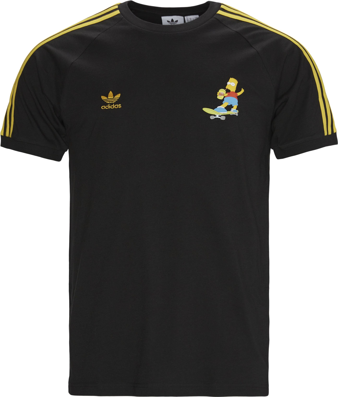 Simps 3S Tee - T-shirts - Regular - Svart