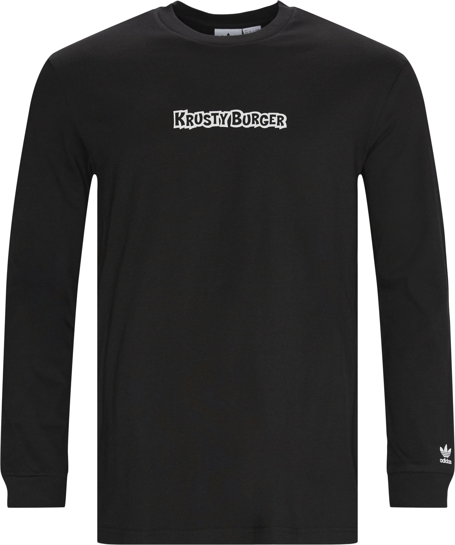Smps KB L/Æ Tee - T-shirts - Regular - Svart