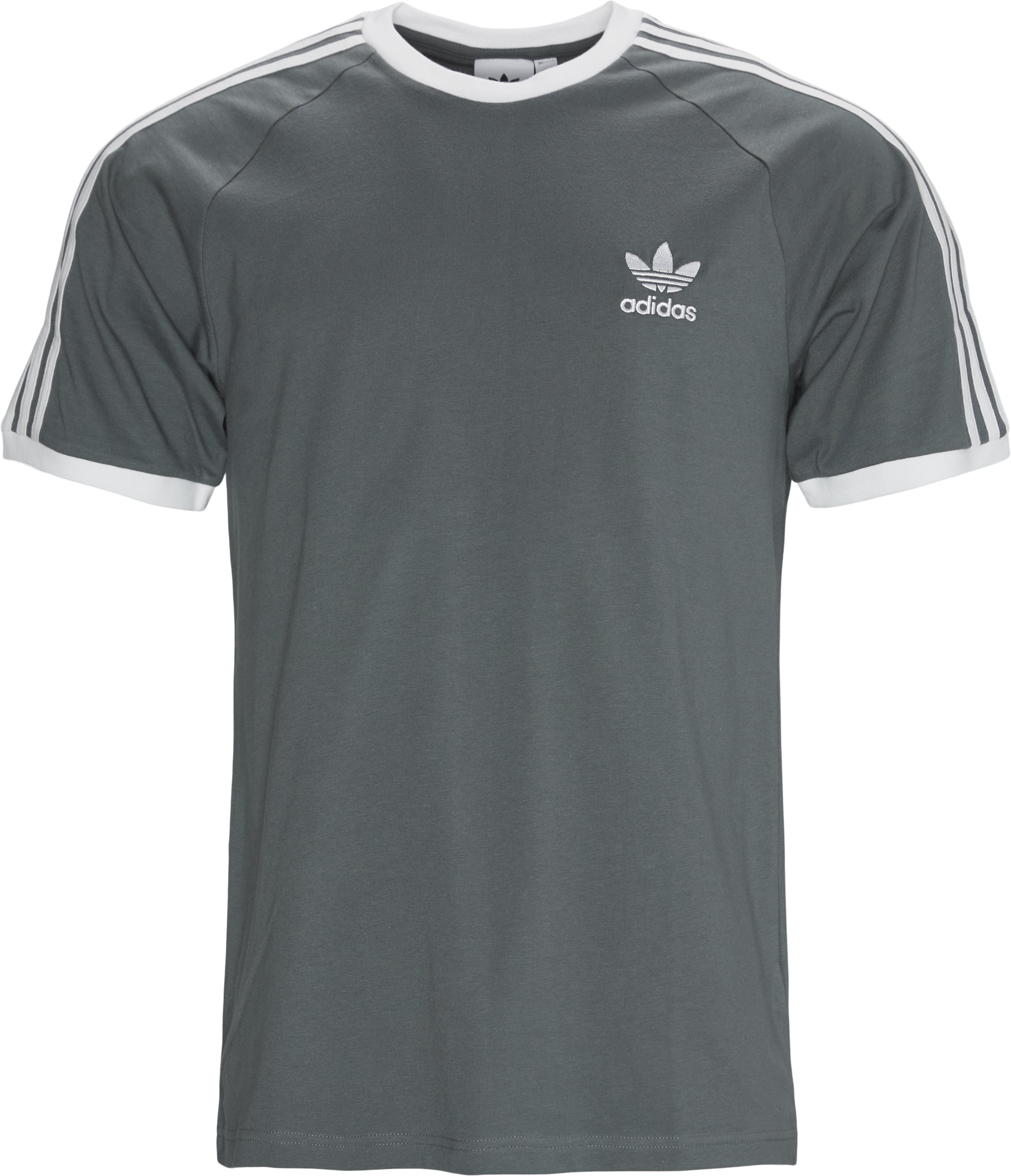 3 Stripes Tee - T-shirts - Regular - Grå