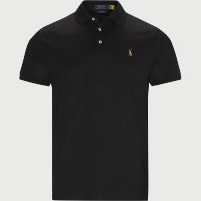Logo Polo T-shirt Regular slim fit | Logo Polo T-shirt | Sort