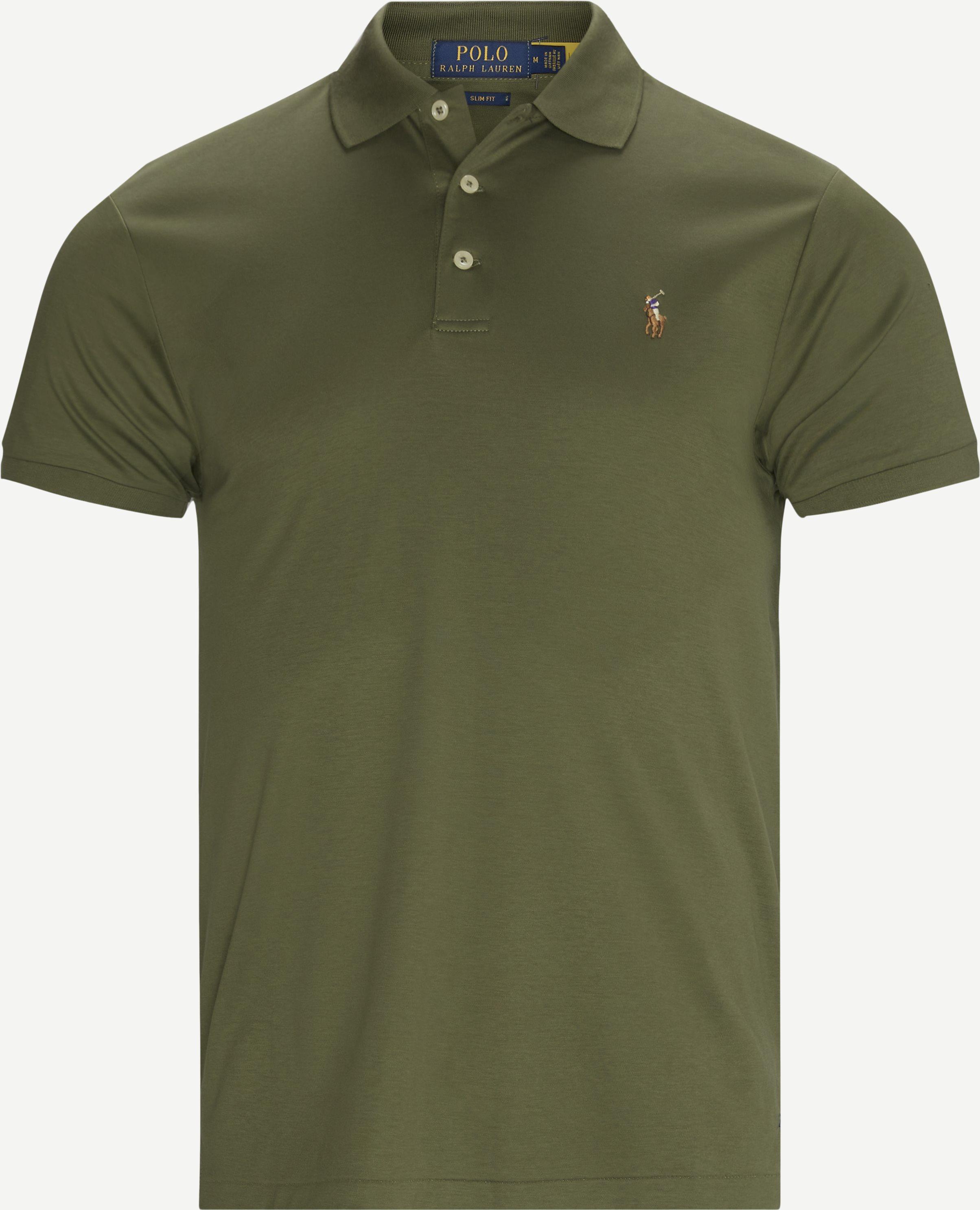 T-Shirts - Slim fit - Oliv
