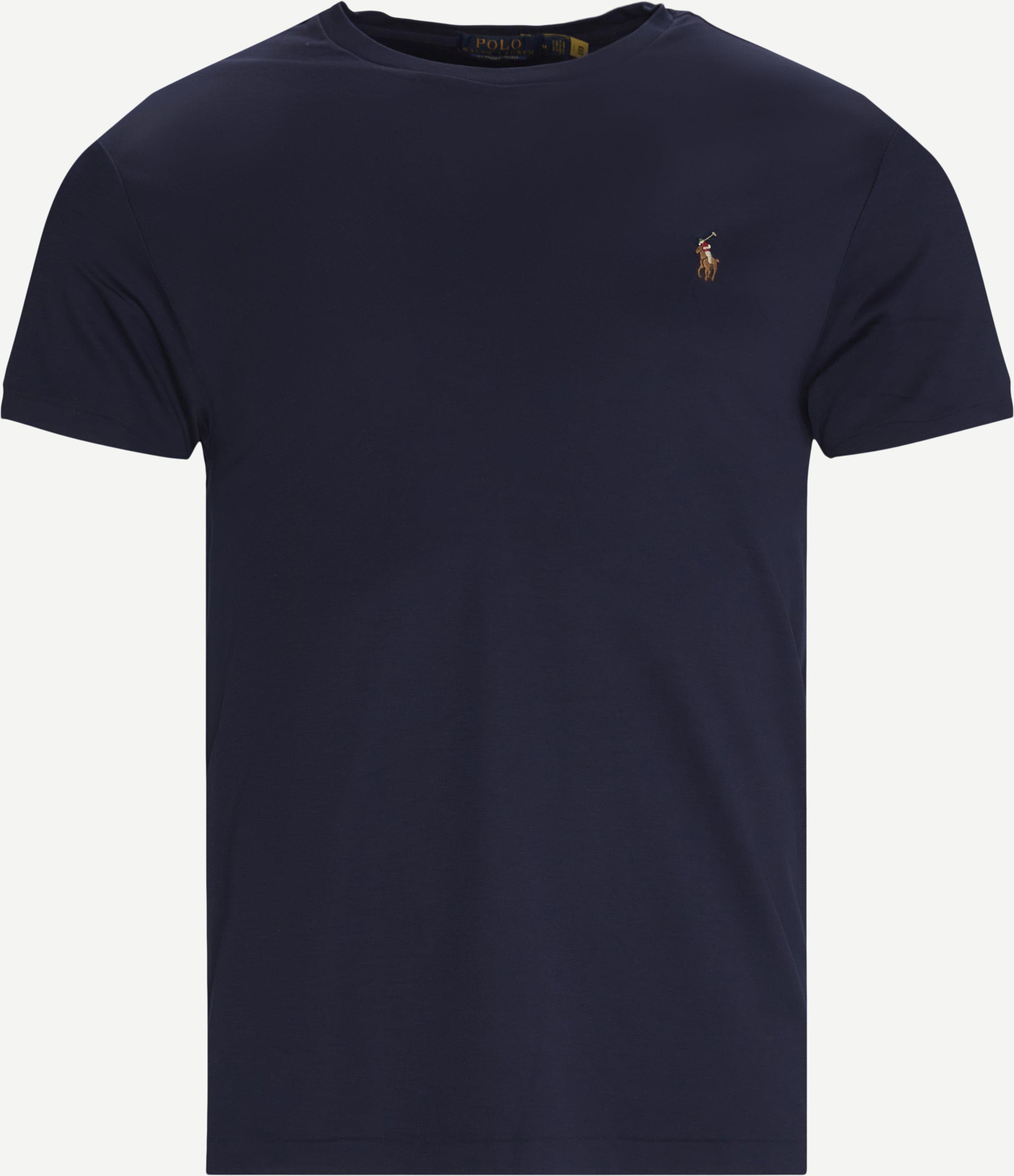 Logo T-shirt - T-shirts - Slim - Blue