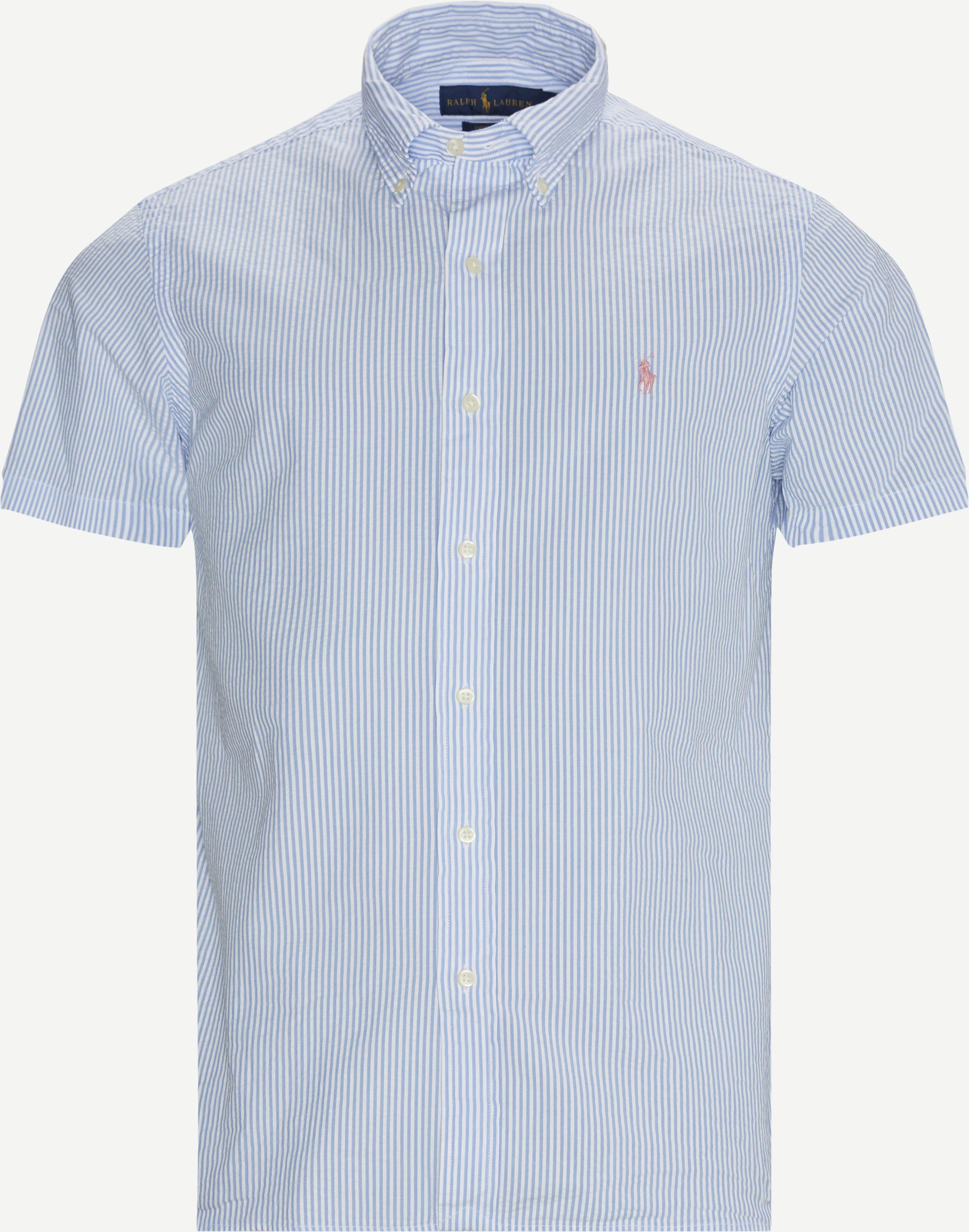Short-sleeved shirts - Custom fit - Blue
