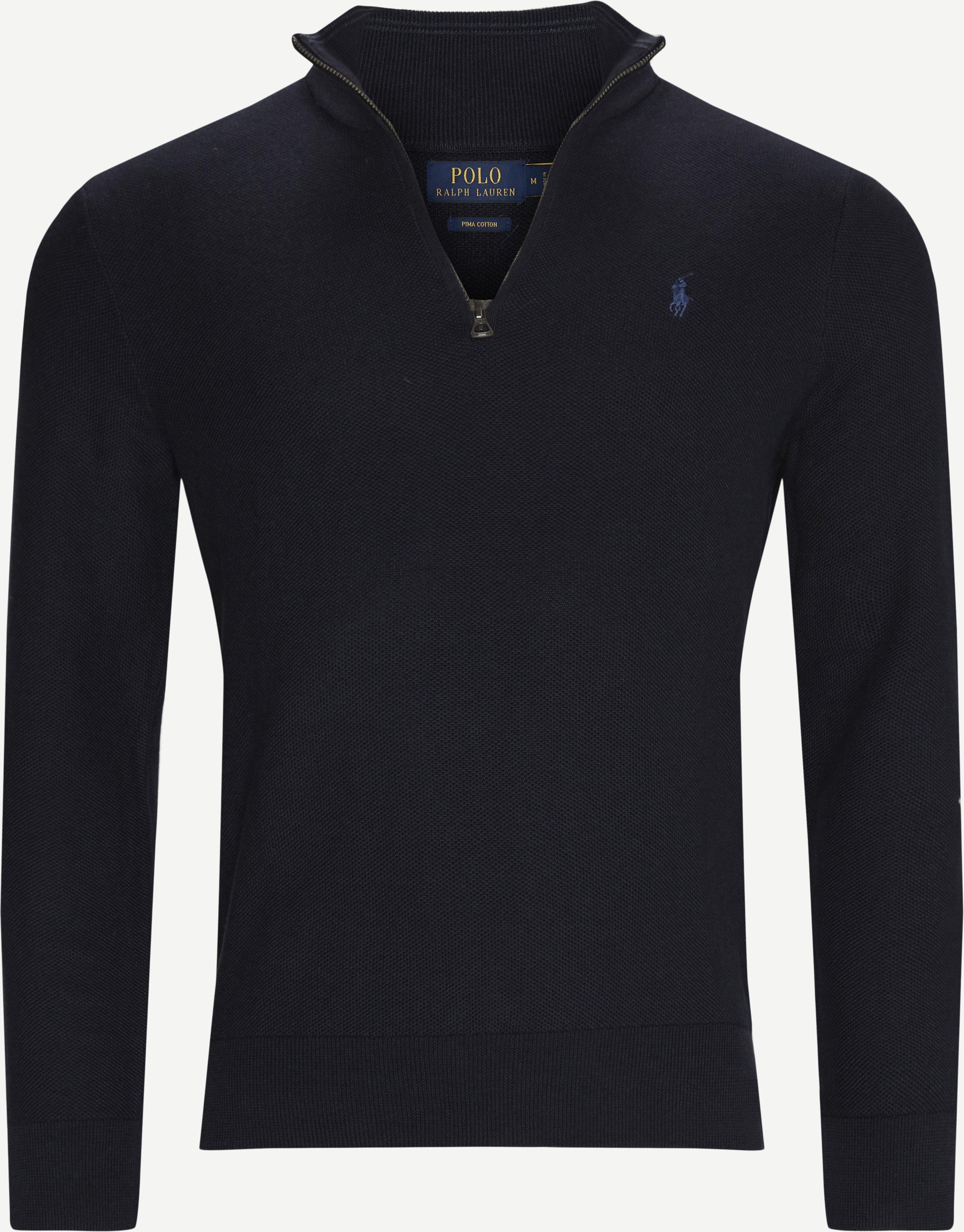 Half-Zip Sweatshirt - Half-zip sweatshirts - Regular - Blue