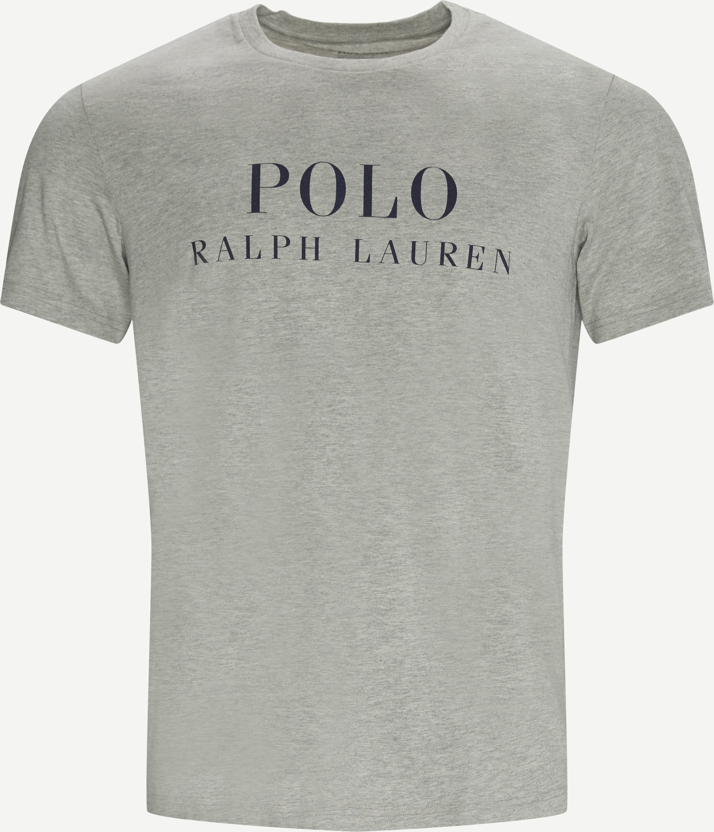 Printet Crew Neck T-shirt - T-shirts - Regular fit - Grå