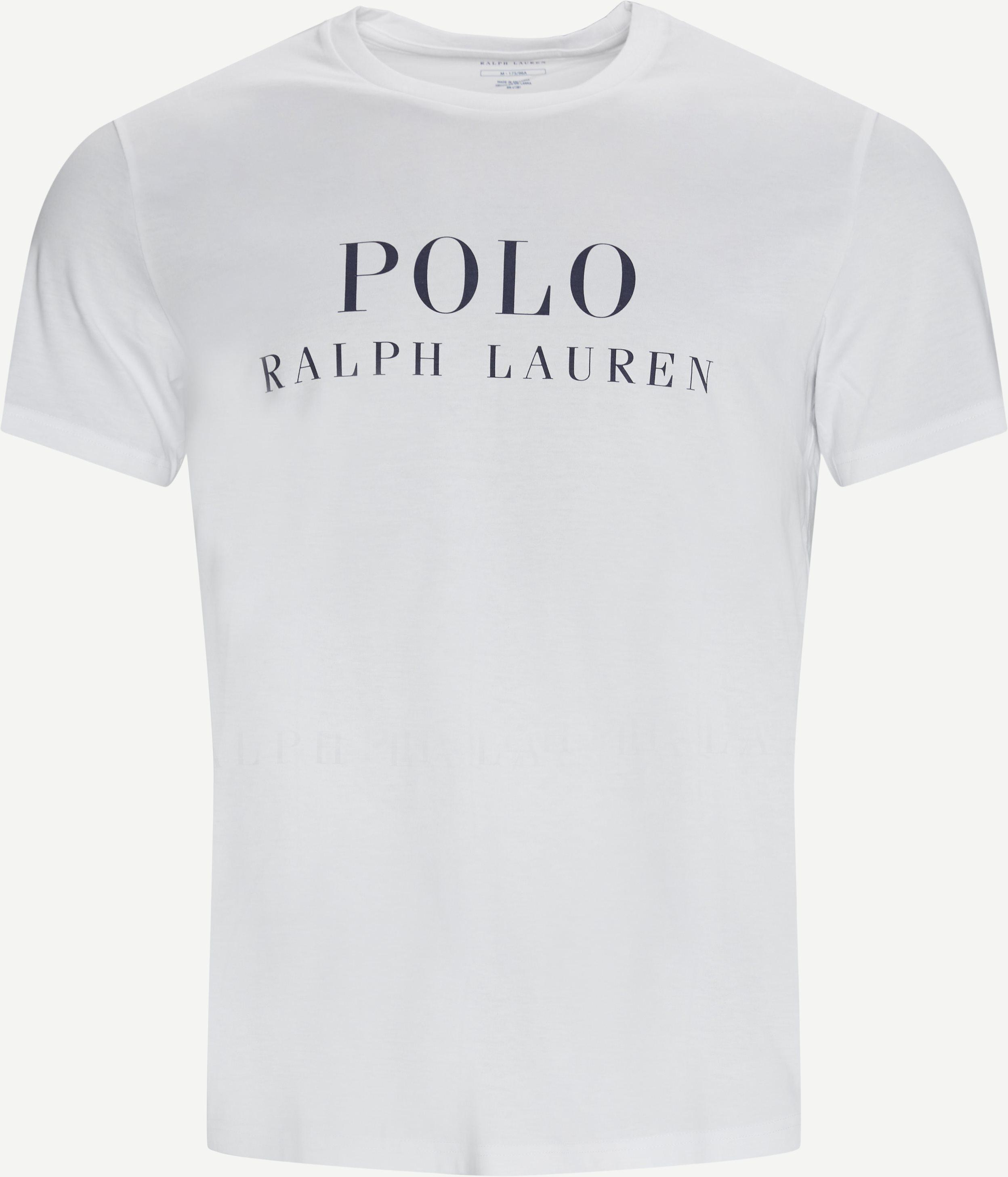 Printet Crew Neck T-shirt - T-shirts - Regular fit - Hvid
