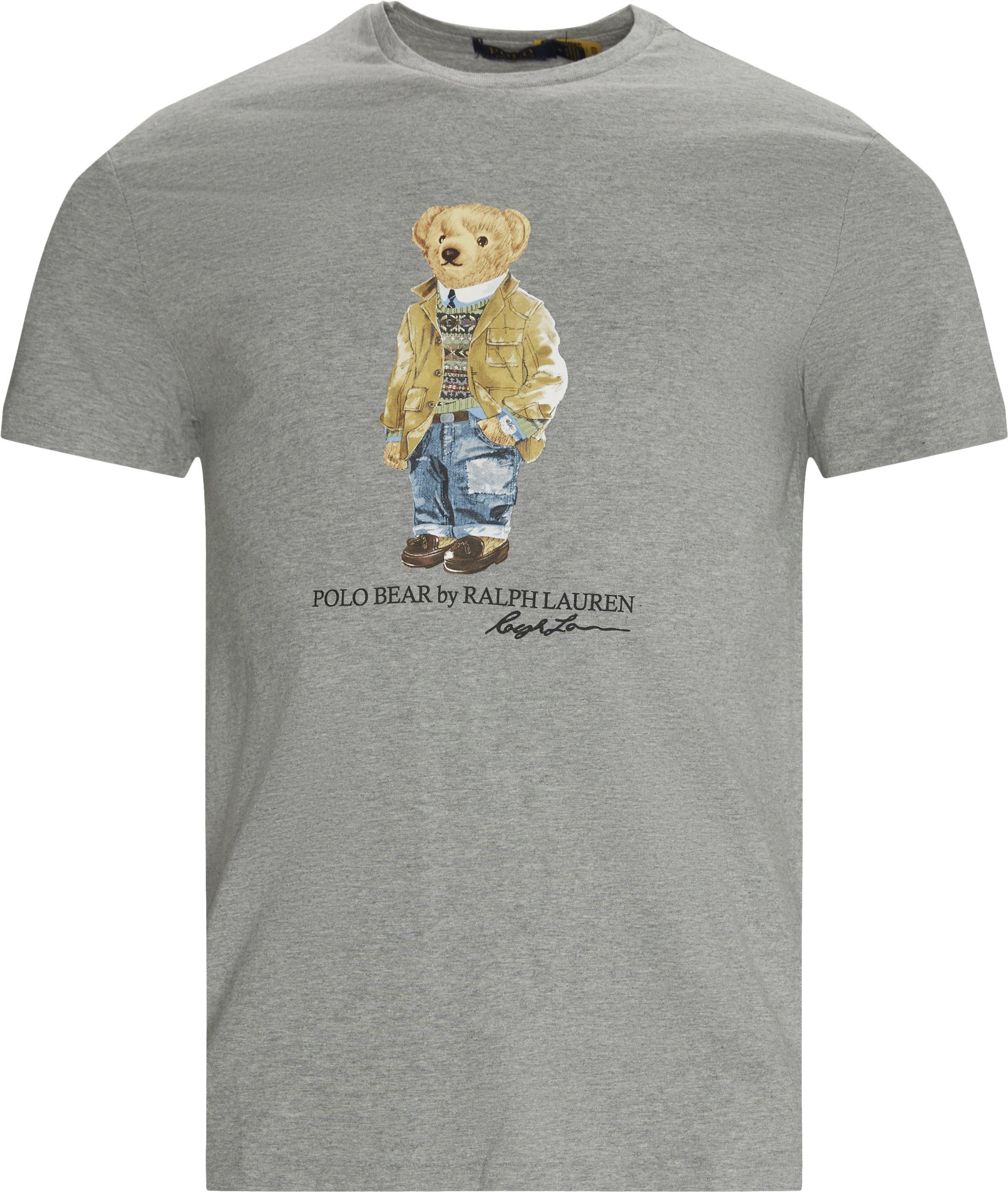Bear Tee - T-shirts - Regular - Grå