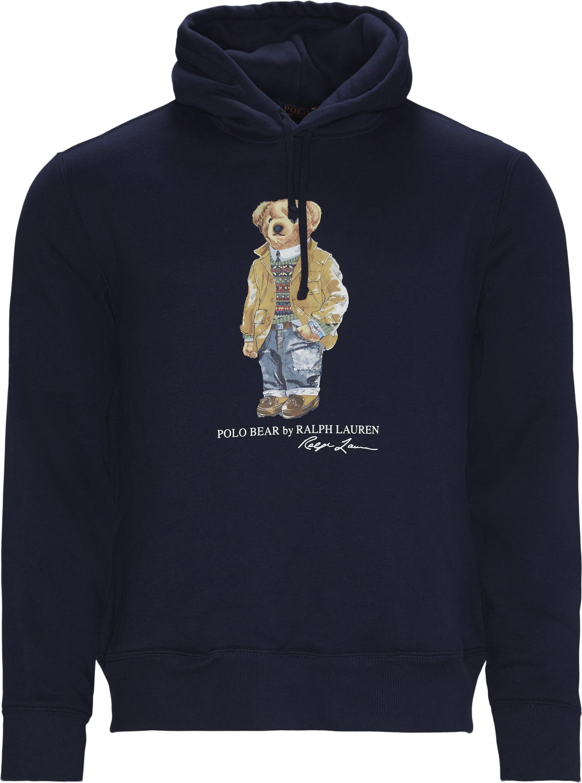 Bear Hoodie - Sweatshirts - Regular - Blå