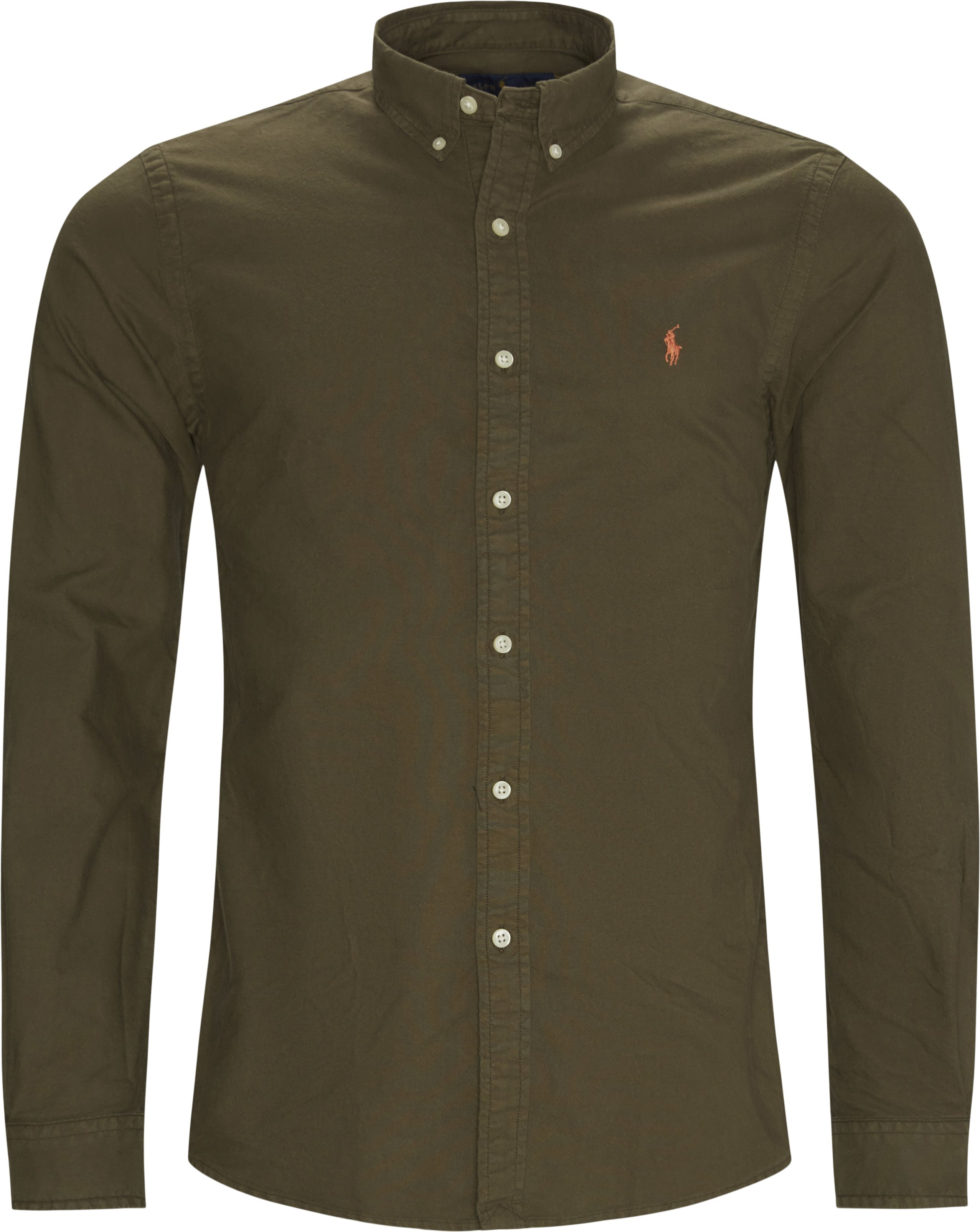 Button-down Skjorte - Skjortor - Slim fit - Armé
