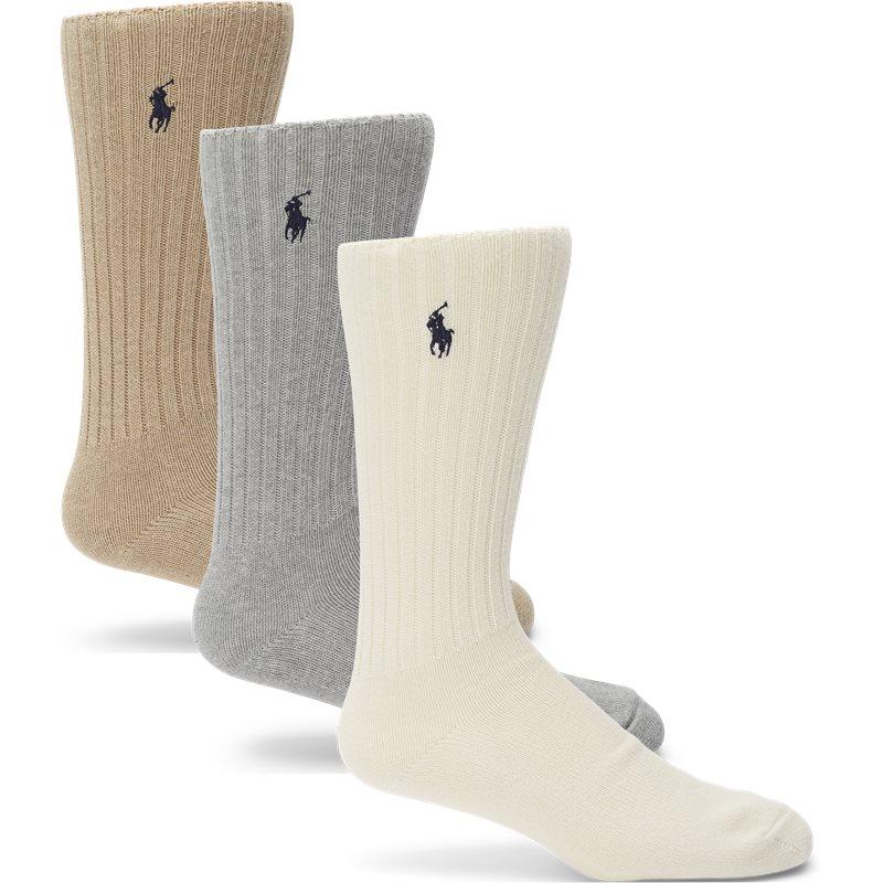 Køb Polo Ralph Lauren 3 Pack Socks Multi