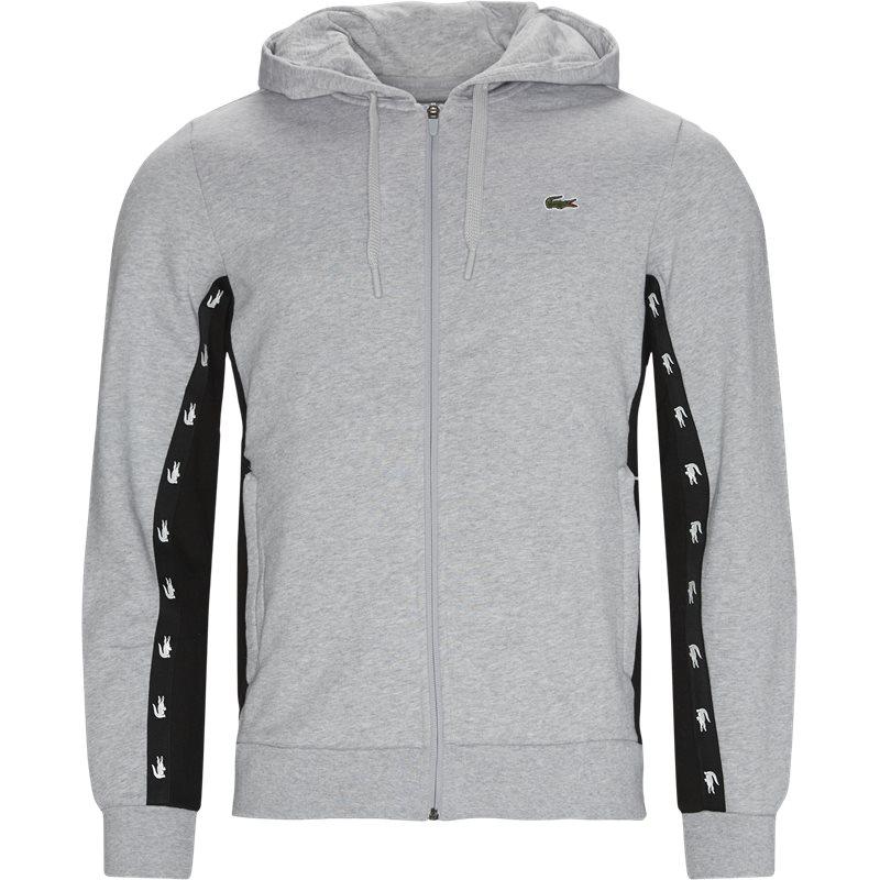 Køb Lacoste Sh5174 Zip Hoodie Grå