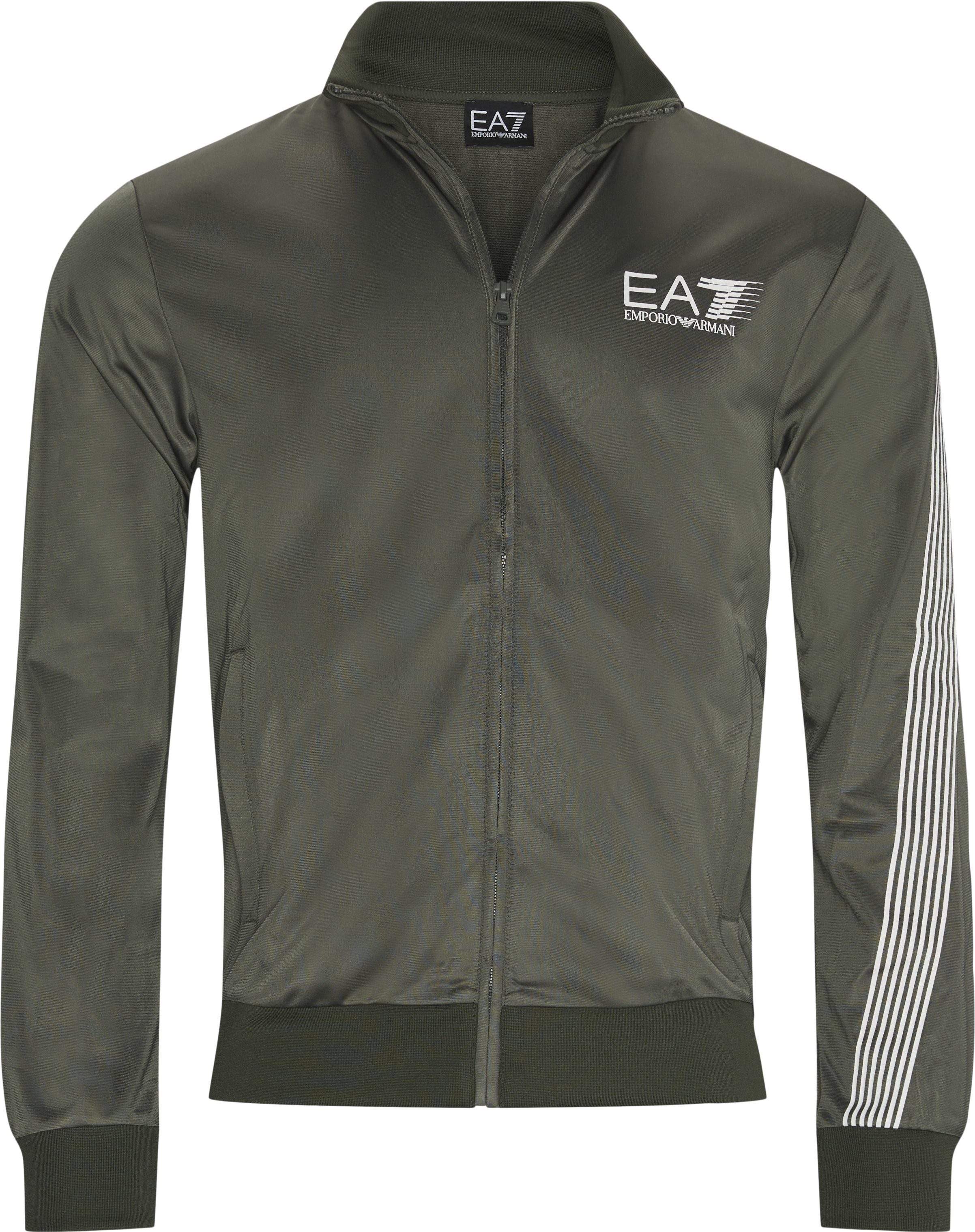 Pj08z  Zip Sweatshirt - Sweatshirts - Regular - Army
