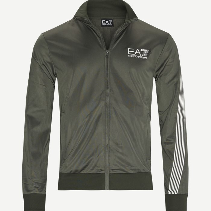 PJ08Z Logo Zip Track Jacket - Sweatshirts - Regular - Army