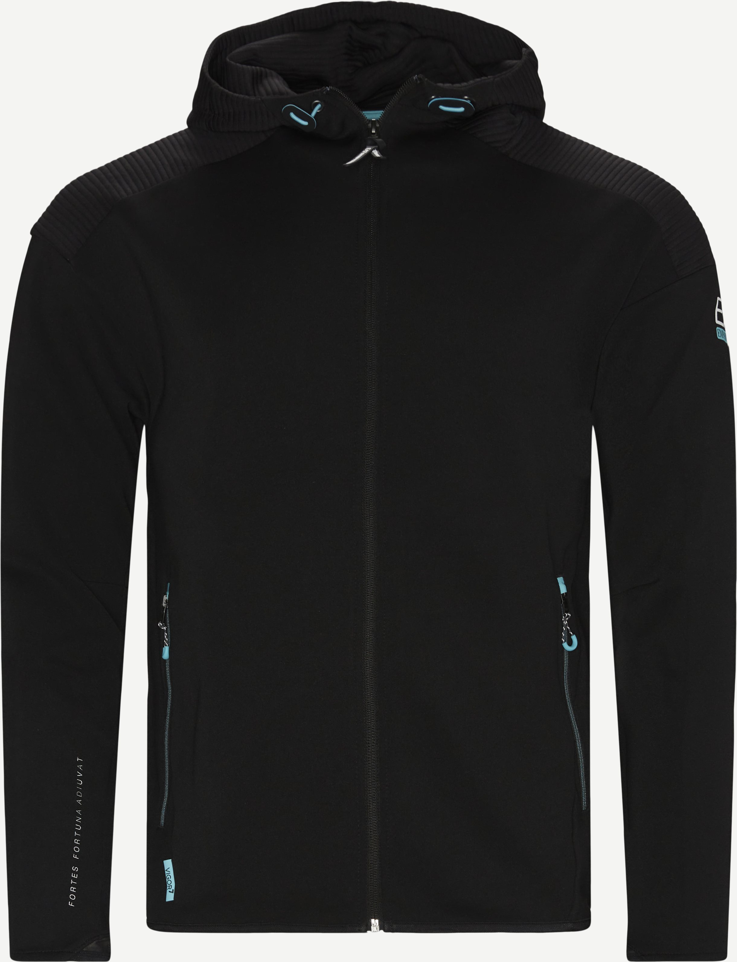 Pjahz Zip Hoodie - Sweatshirts - Regular - Black