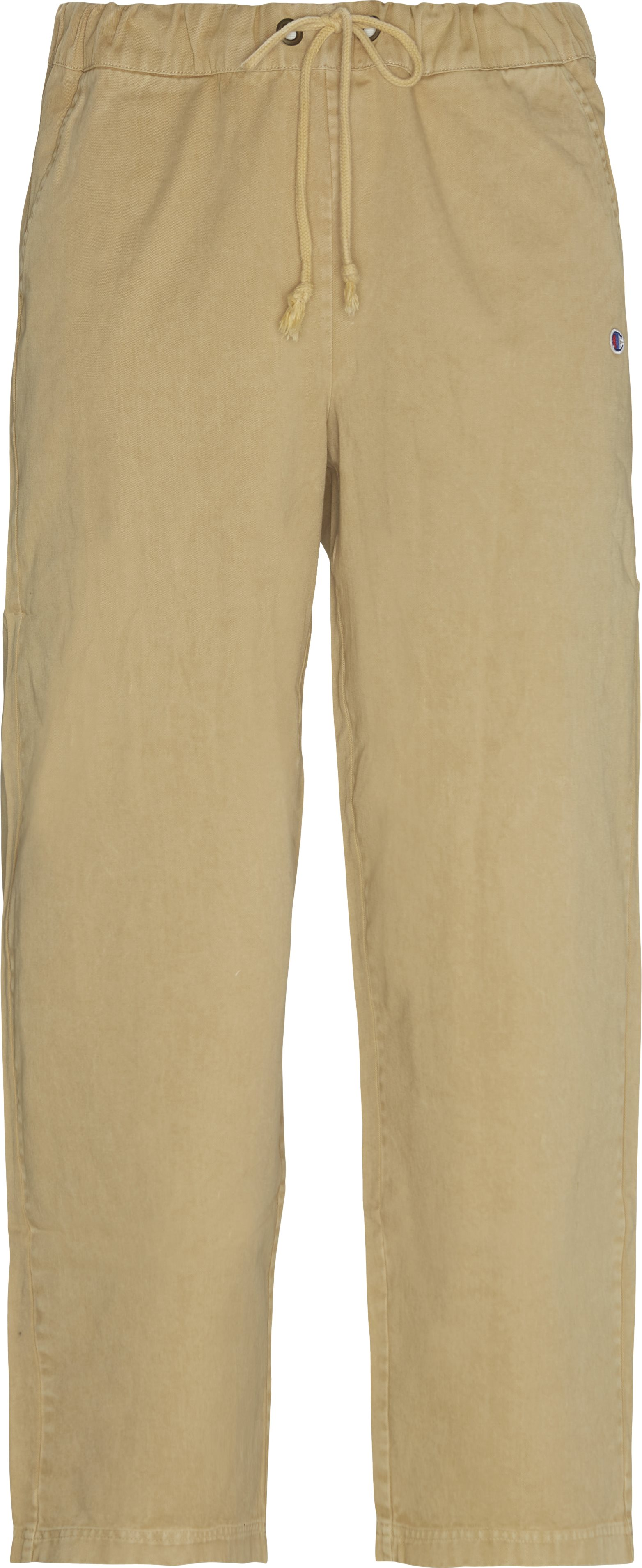 Trousers - Loose fit - Sand