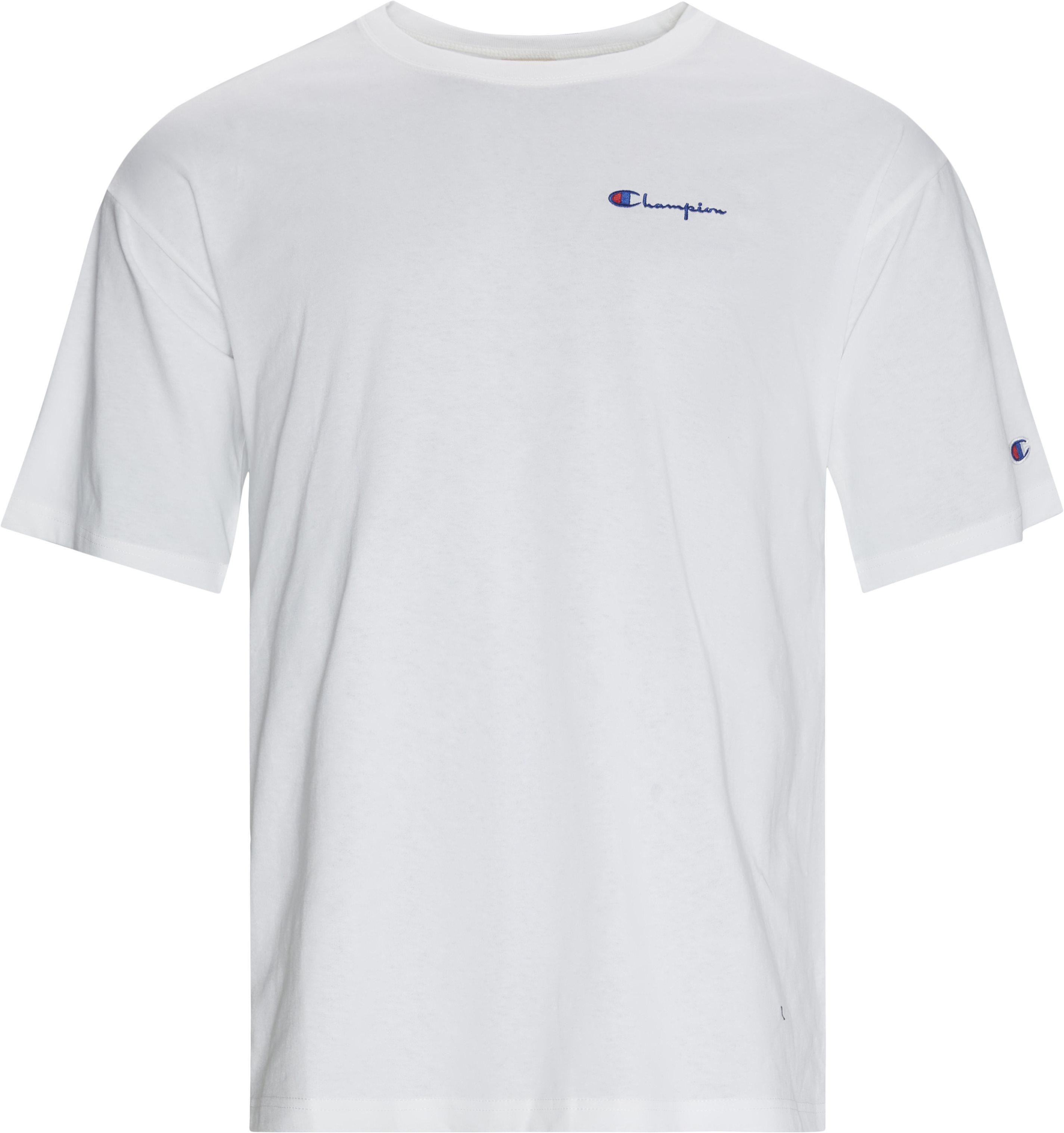 Drop Tee - T-shirts - Regular fit - Hvid