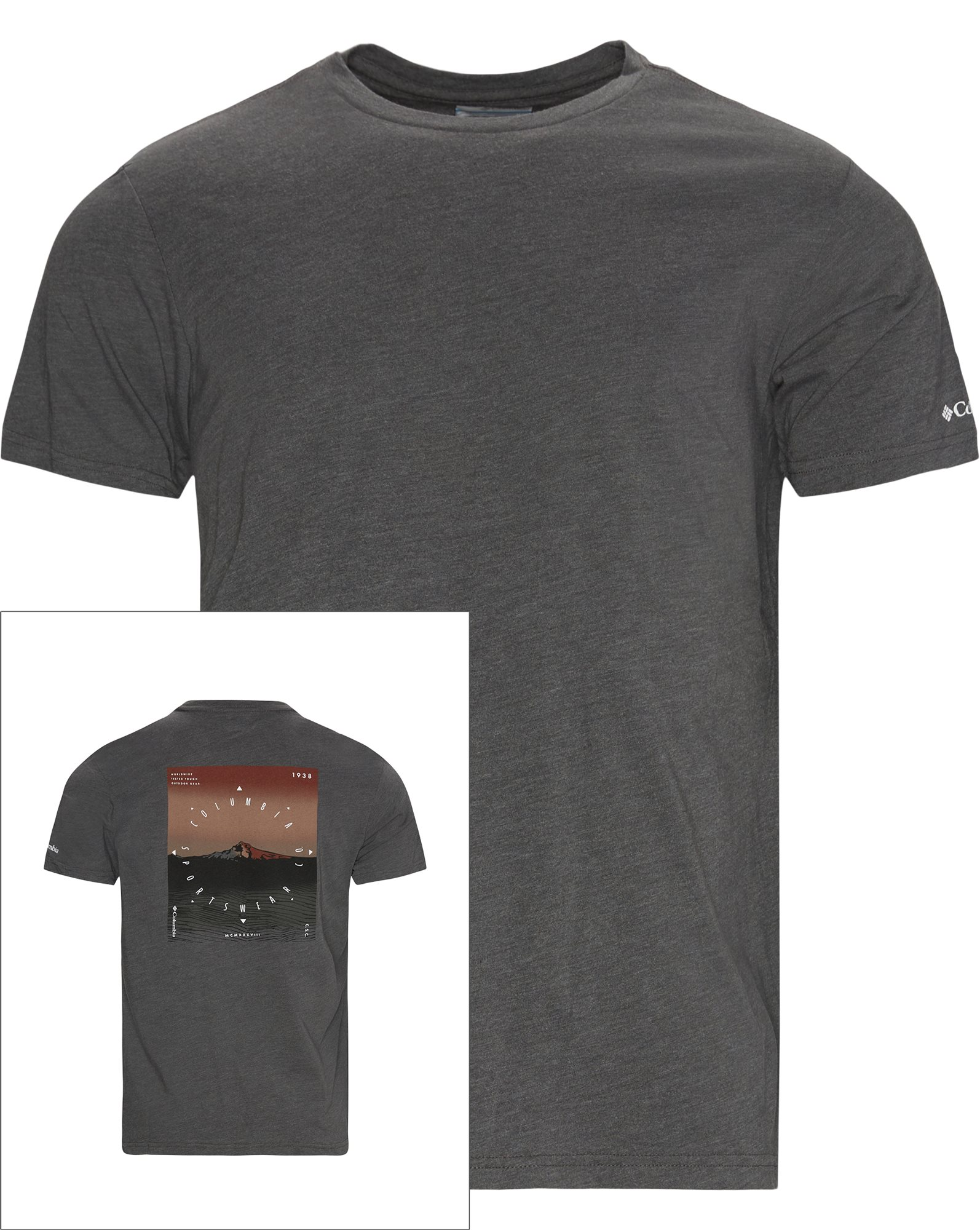 High Dune Tee - T-shirts - Regular - Grå