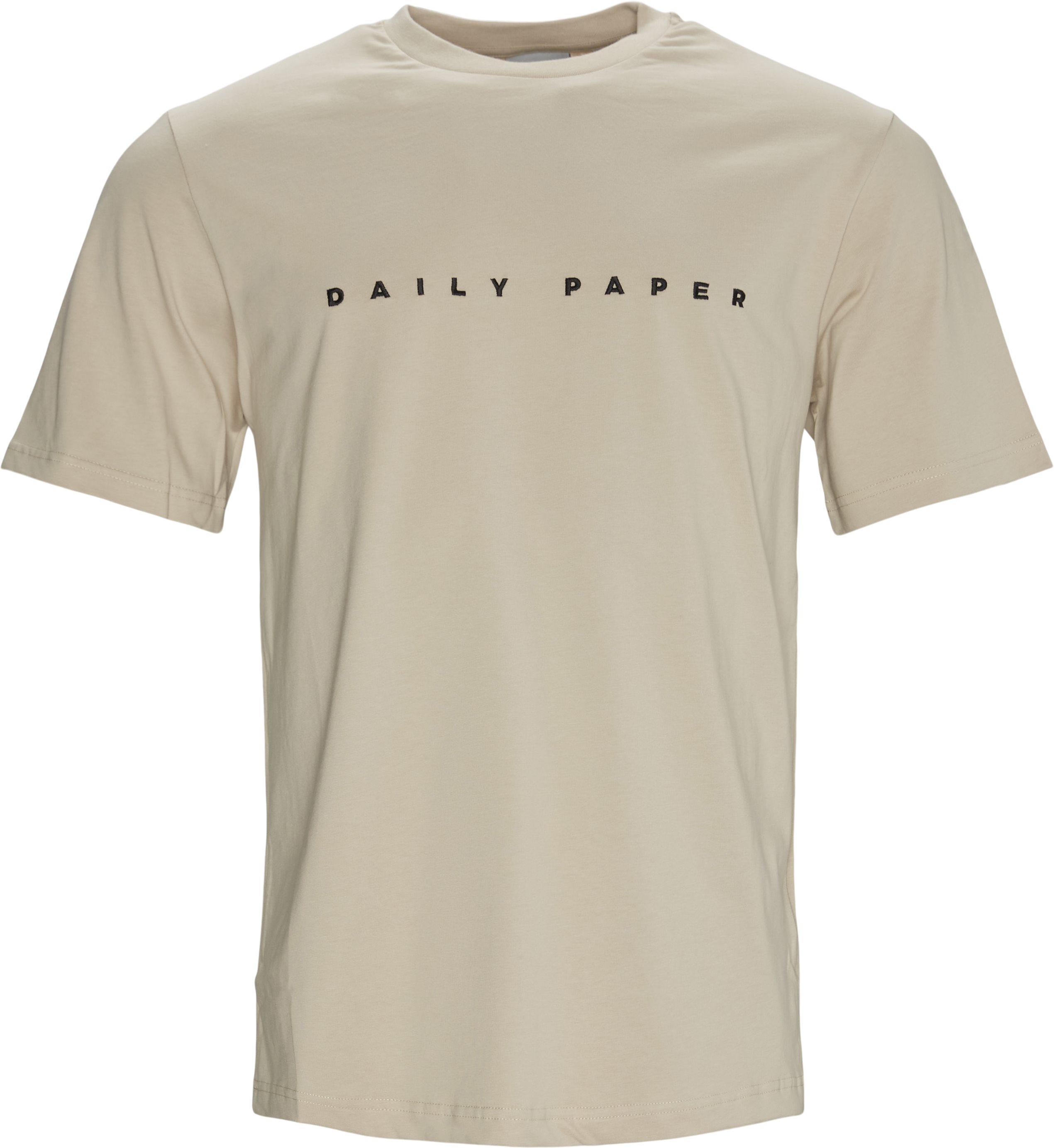 Elias Tee - T-shirts - Regular - Sand